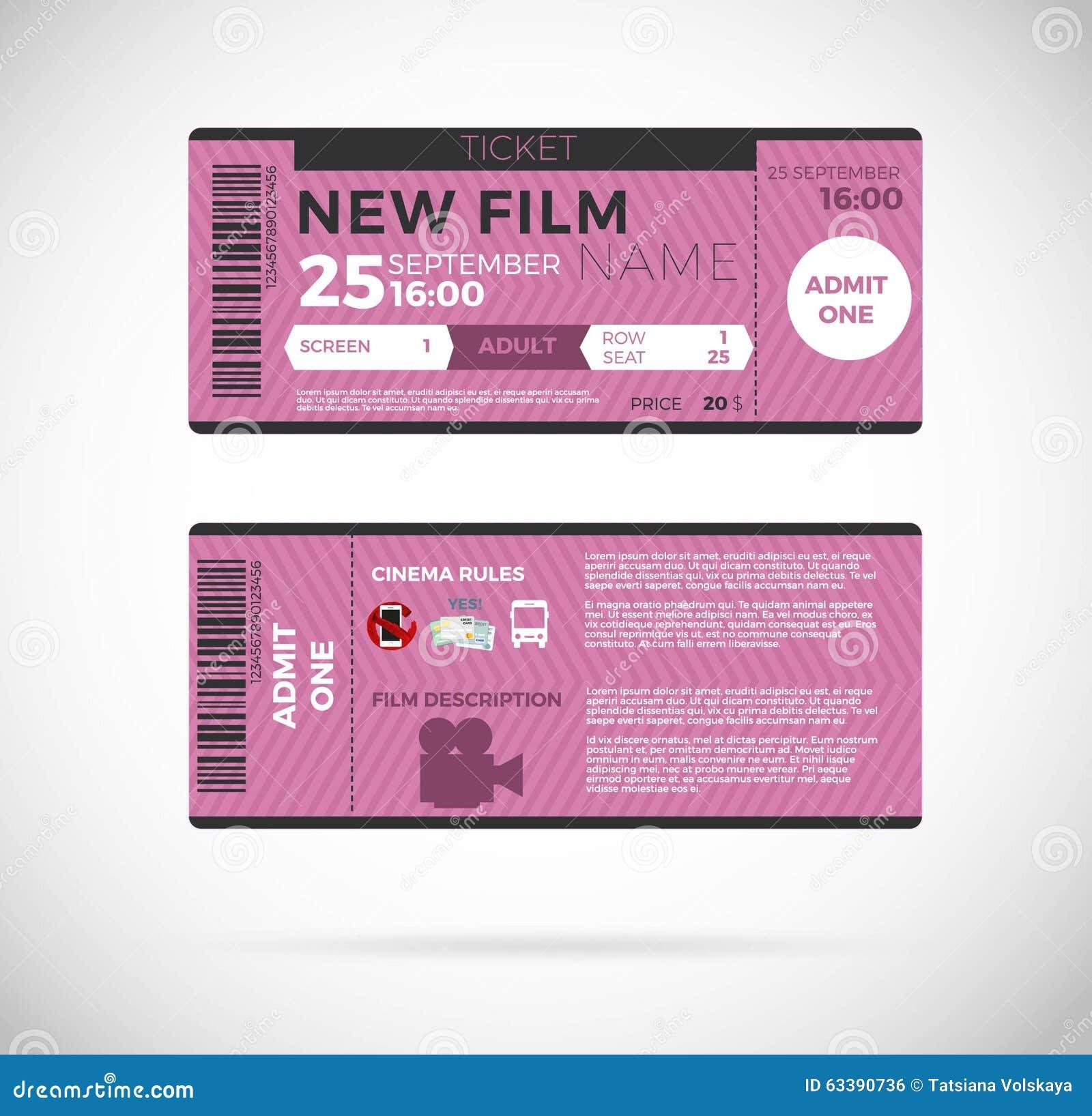 cinemamodernticketdesign vectorillustrationepsgraphicconcepticons63390736jpg – Sample Ticket Design