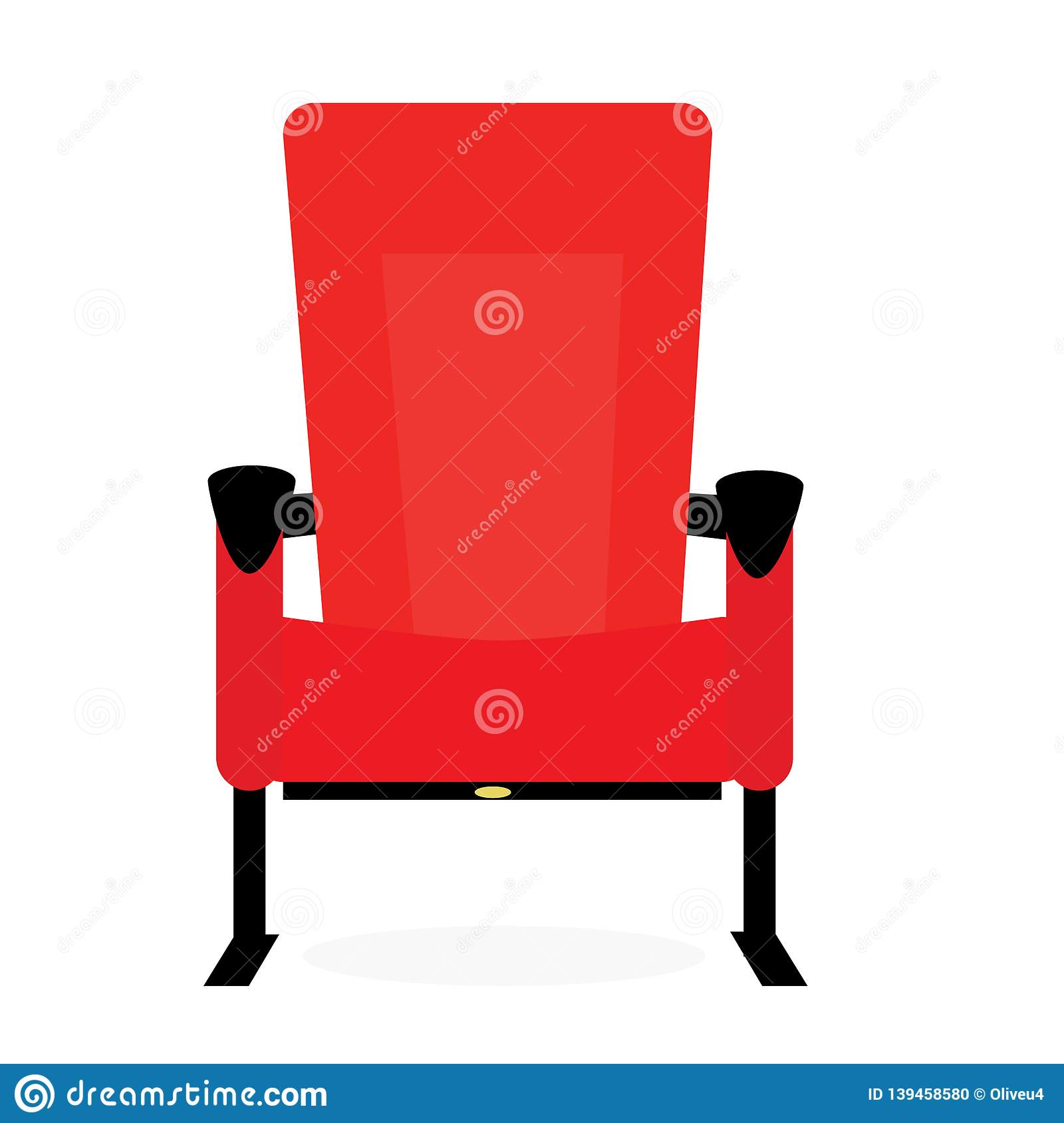Comfortable Red Cinema Seat For Watching Movies Cartoon ...