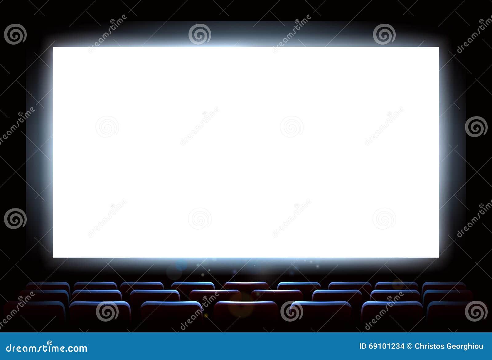Cinema Movie Theatre Screen Vector Illustration