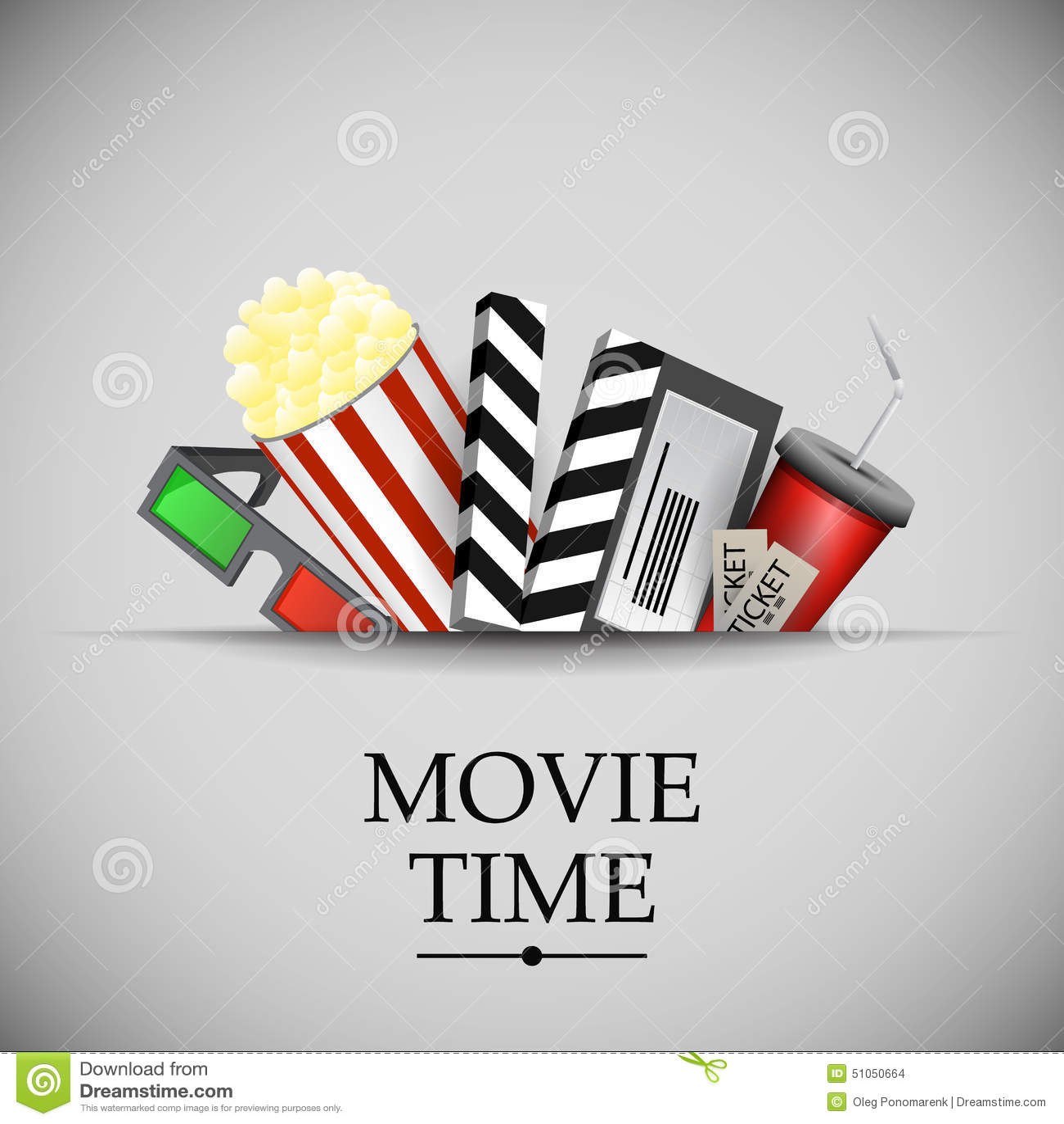 Cinema movie time stock illustration. Image of ...