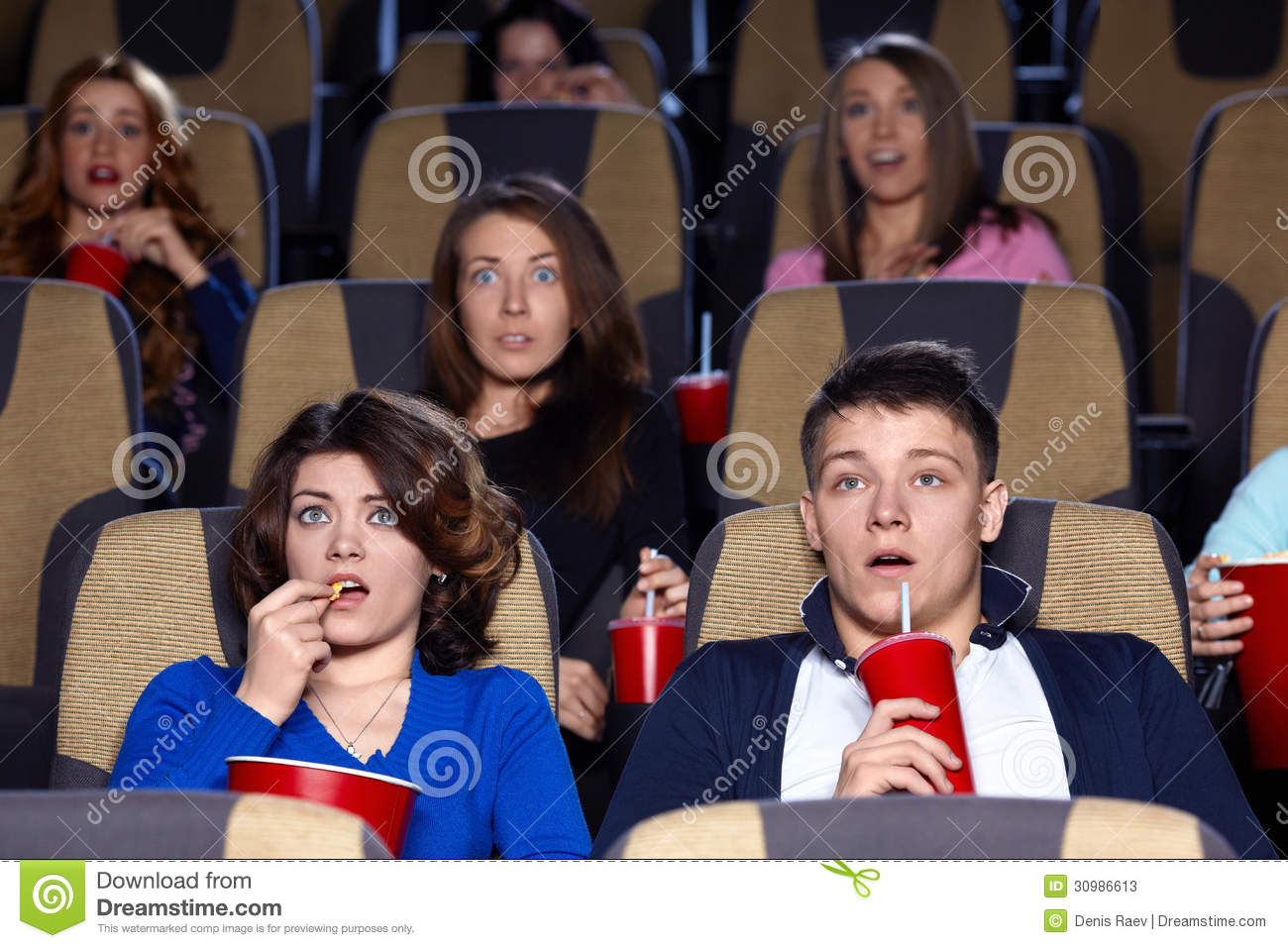Cinema stock image. Image of black, concepts, group ...