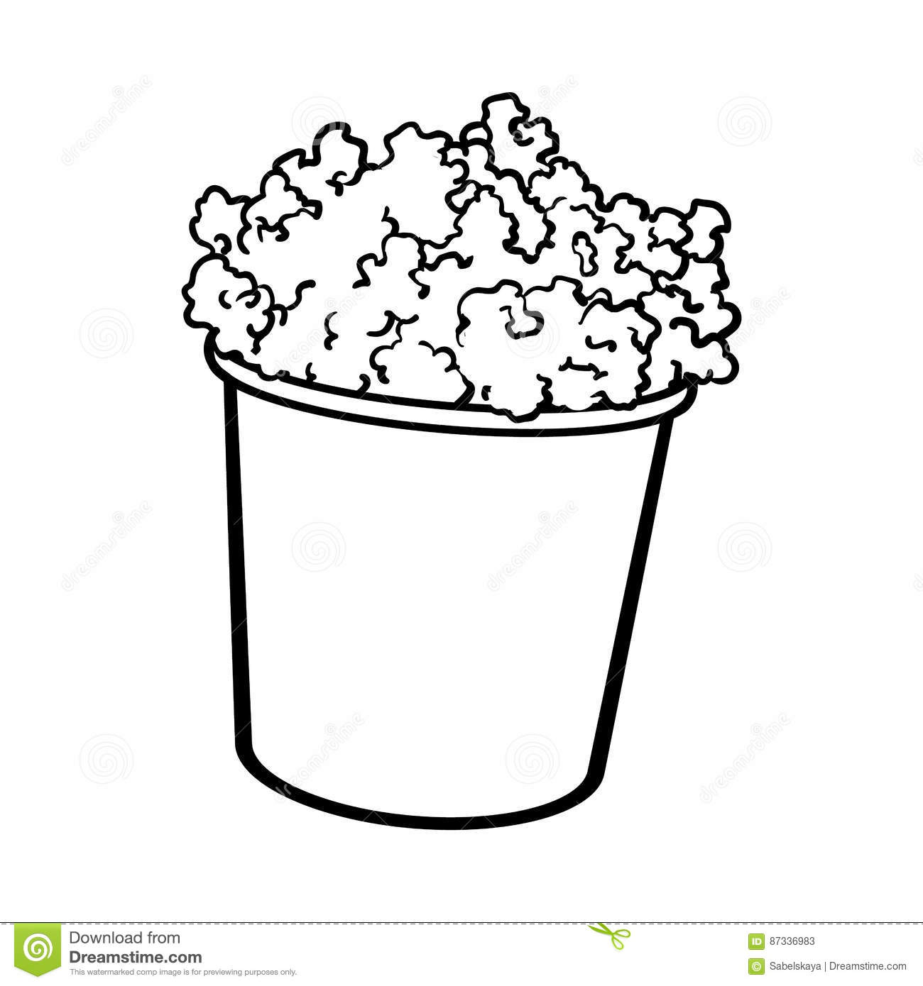 Illustation Vector Hand Drawn Doodle Of Movie Theater With Monster..  Royalty Free Cliparts, Vectors, And Stock Illustration. Image 70034513.