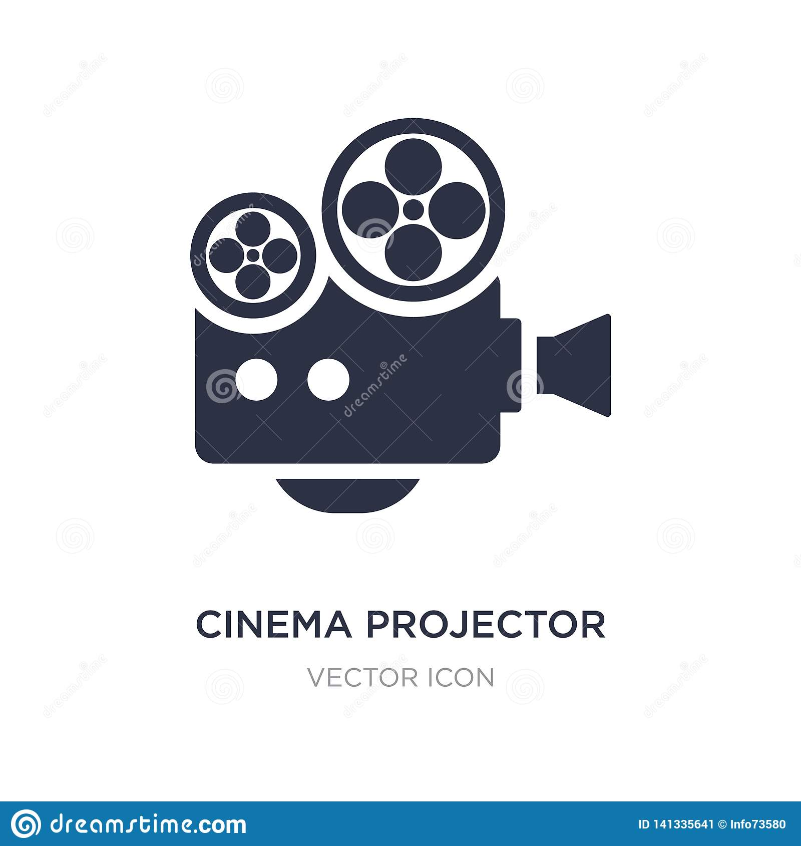cinema projector icon on white background. Simple element illustration from Technology concept