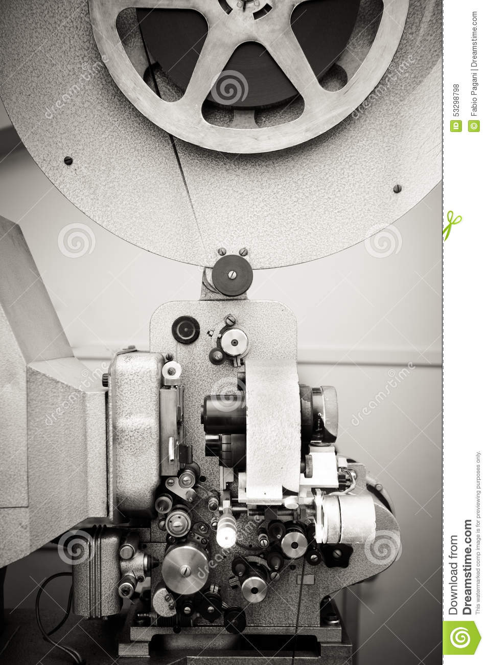 16mm Reel Movie Projectors: Cinema Projector For 16 Mm Movie, Old Vintage Stock Photo