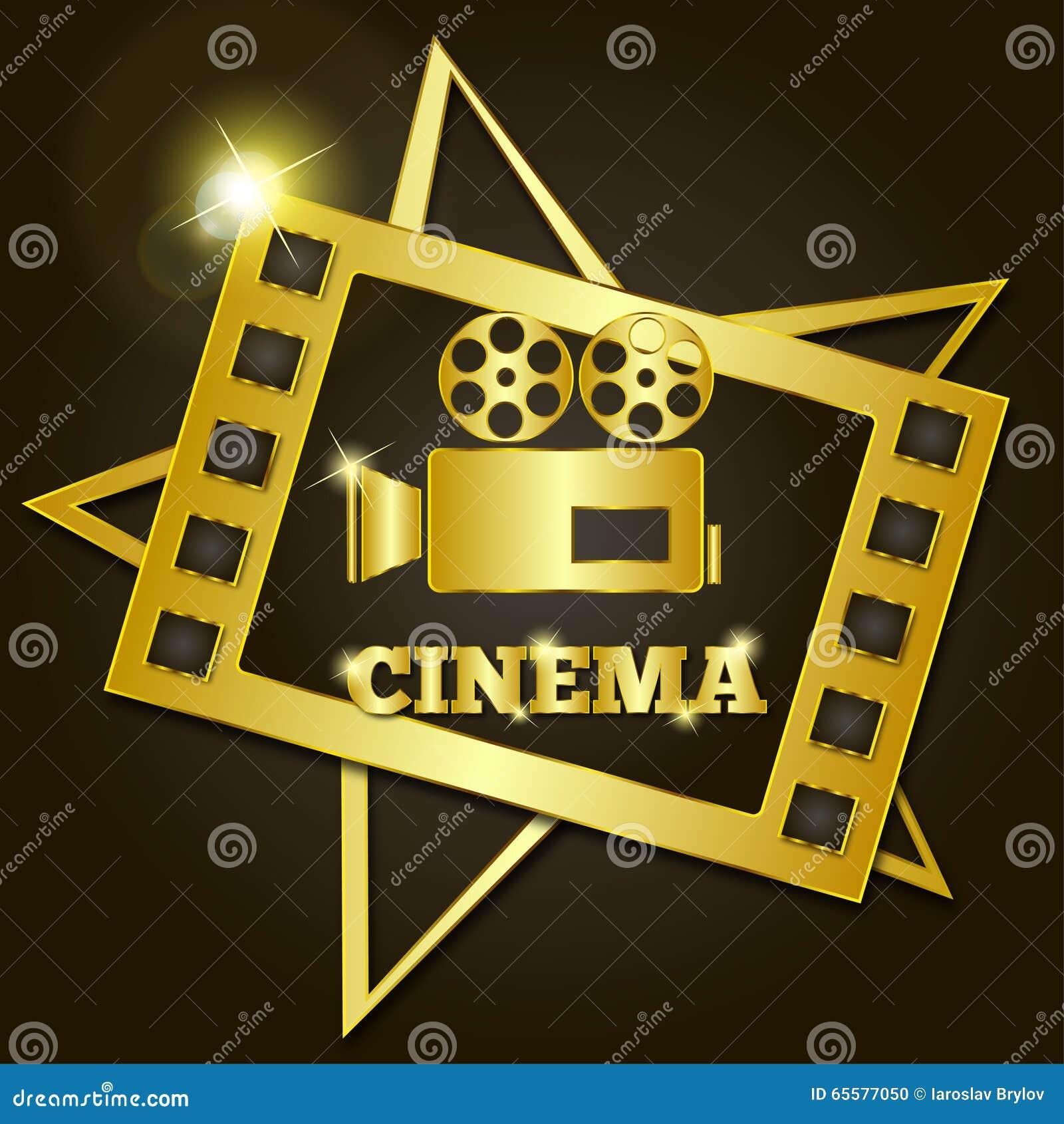Cinema retro dourado