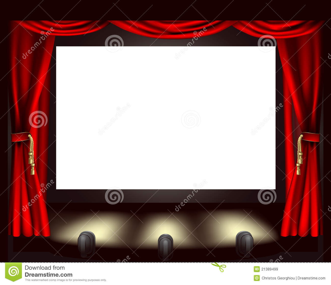 cinema screen royalty free stock images image 21389499 Drive in Movie Clip Art Movie Time Clip Art
