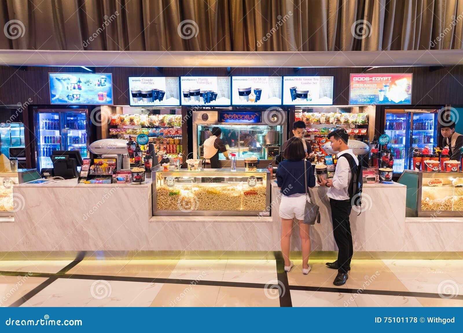 cinema snack bar paragon cineplex bangkok editorial stock photo image of entertainment mall. Black Bedroom Furniture Sets. Home Design Ideas
