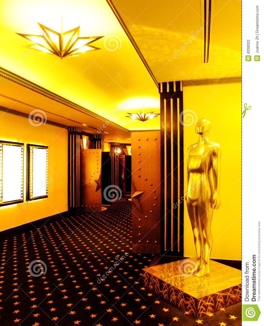 Cinema Theatre Lobby Stock Photo Image Of Furnish Door