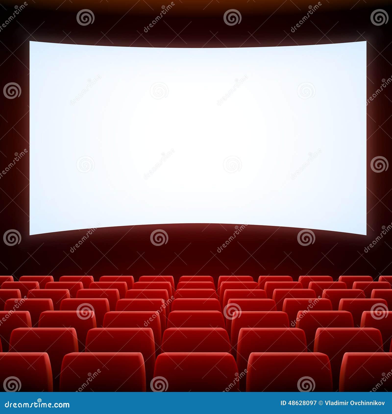 cinema theatre stock vector image 48628097