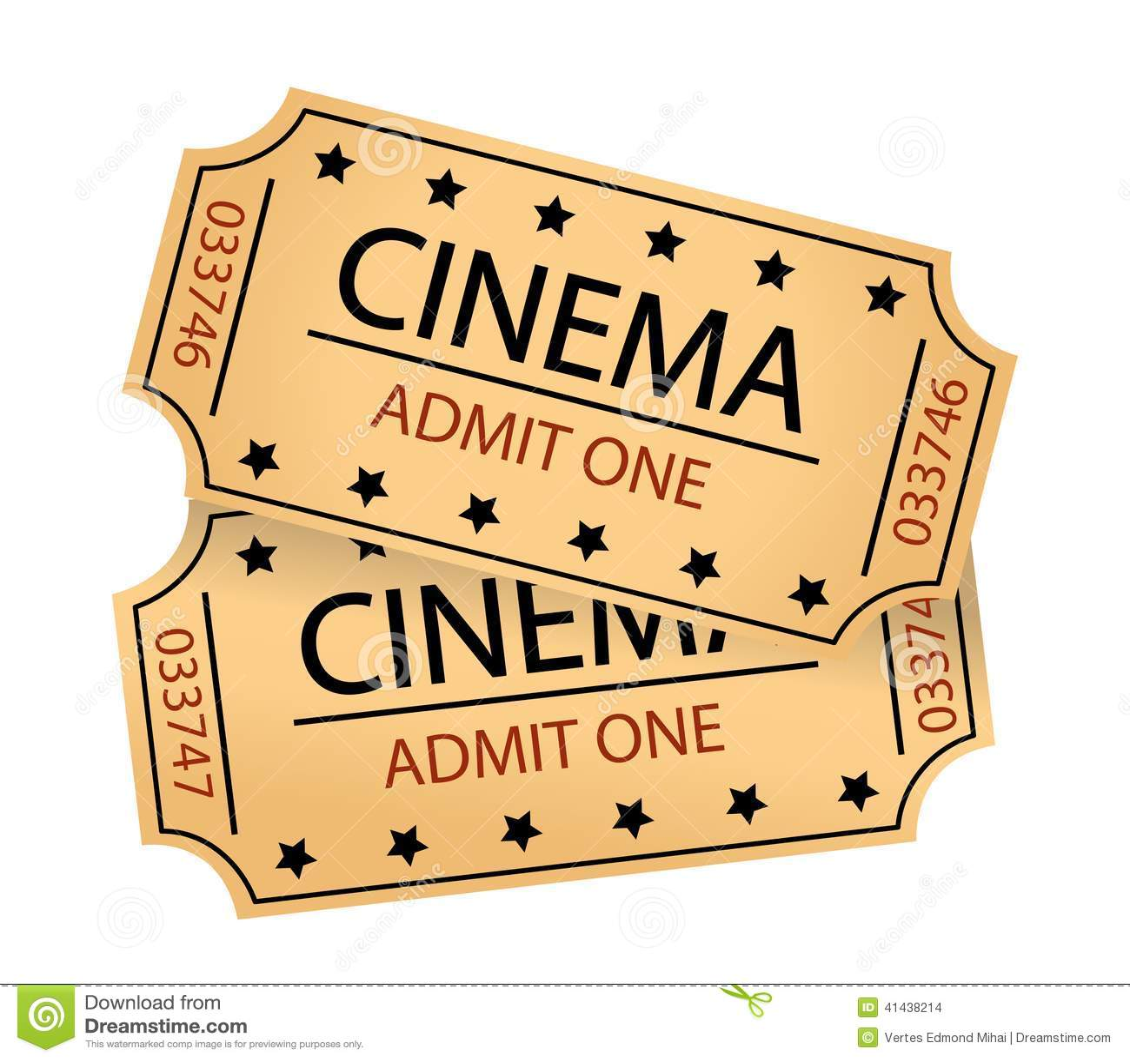 Cinema tickets stock vector. Illustration of entertainment ...