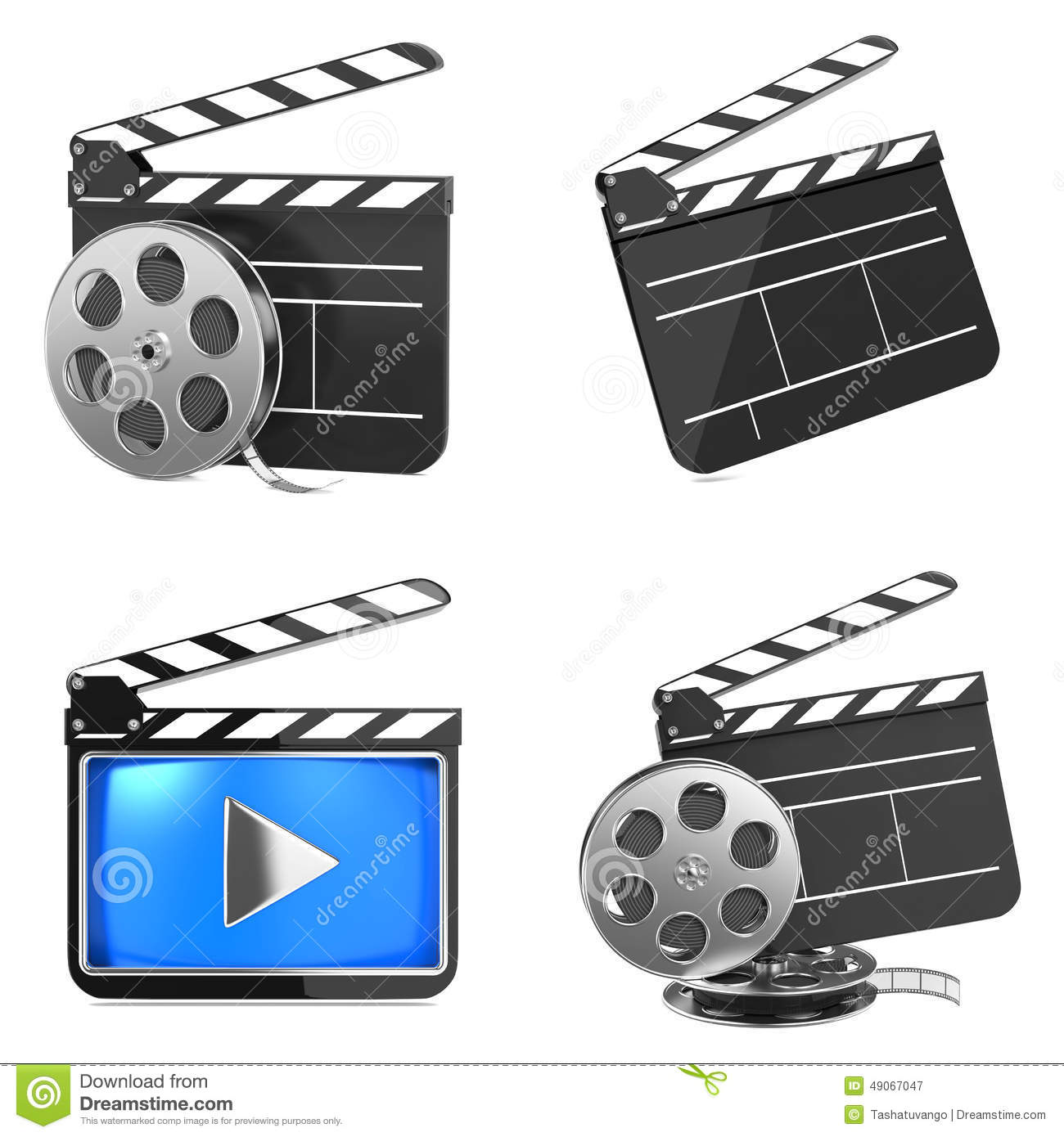 Media Industry: Cinema And Video Media Industry Concept. Stock