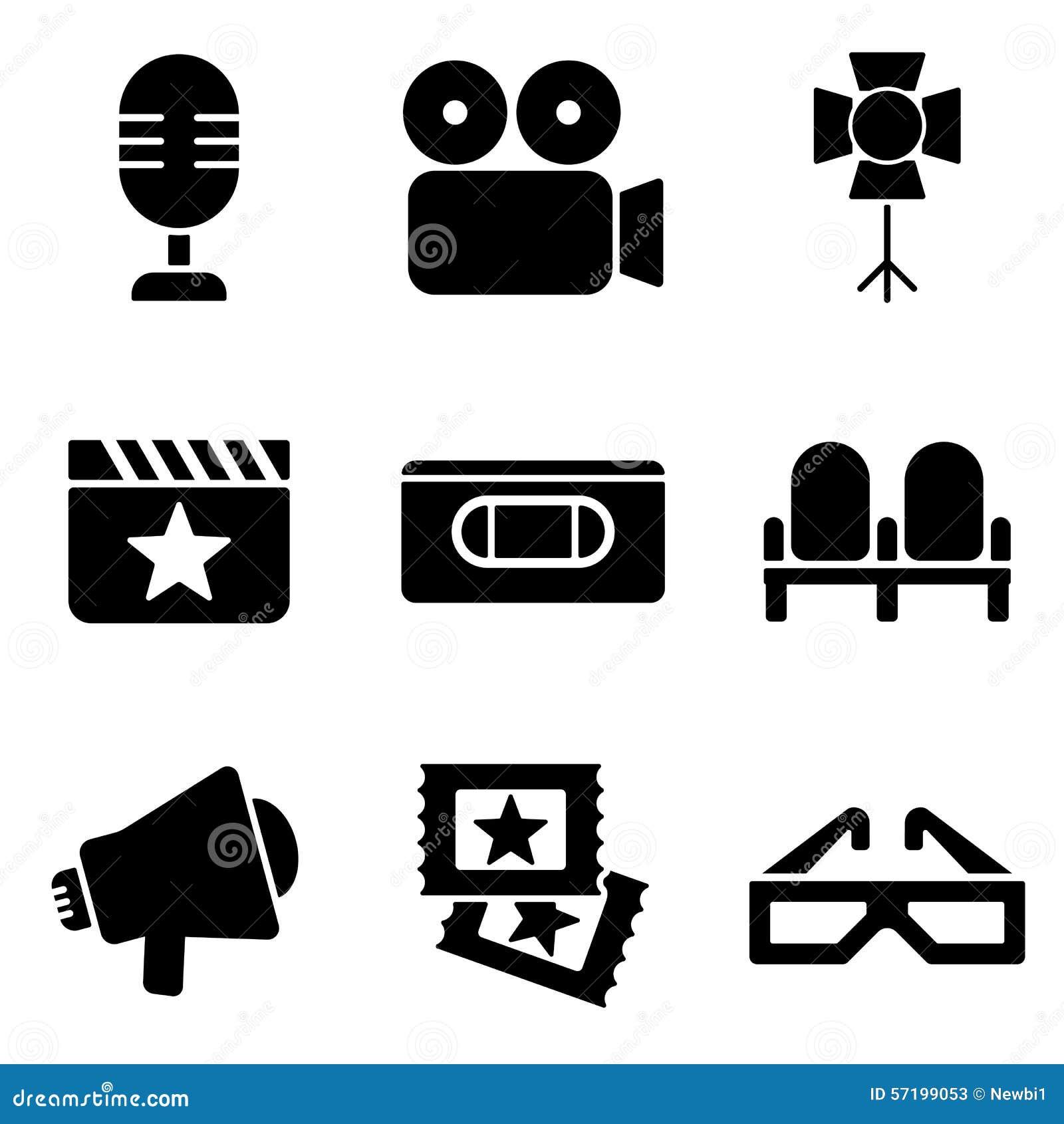 Cinema web and mobile logo icons collection stock vector cinema web and mobile logo icons collection stock photos buycottarizona Choice Image