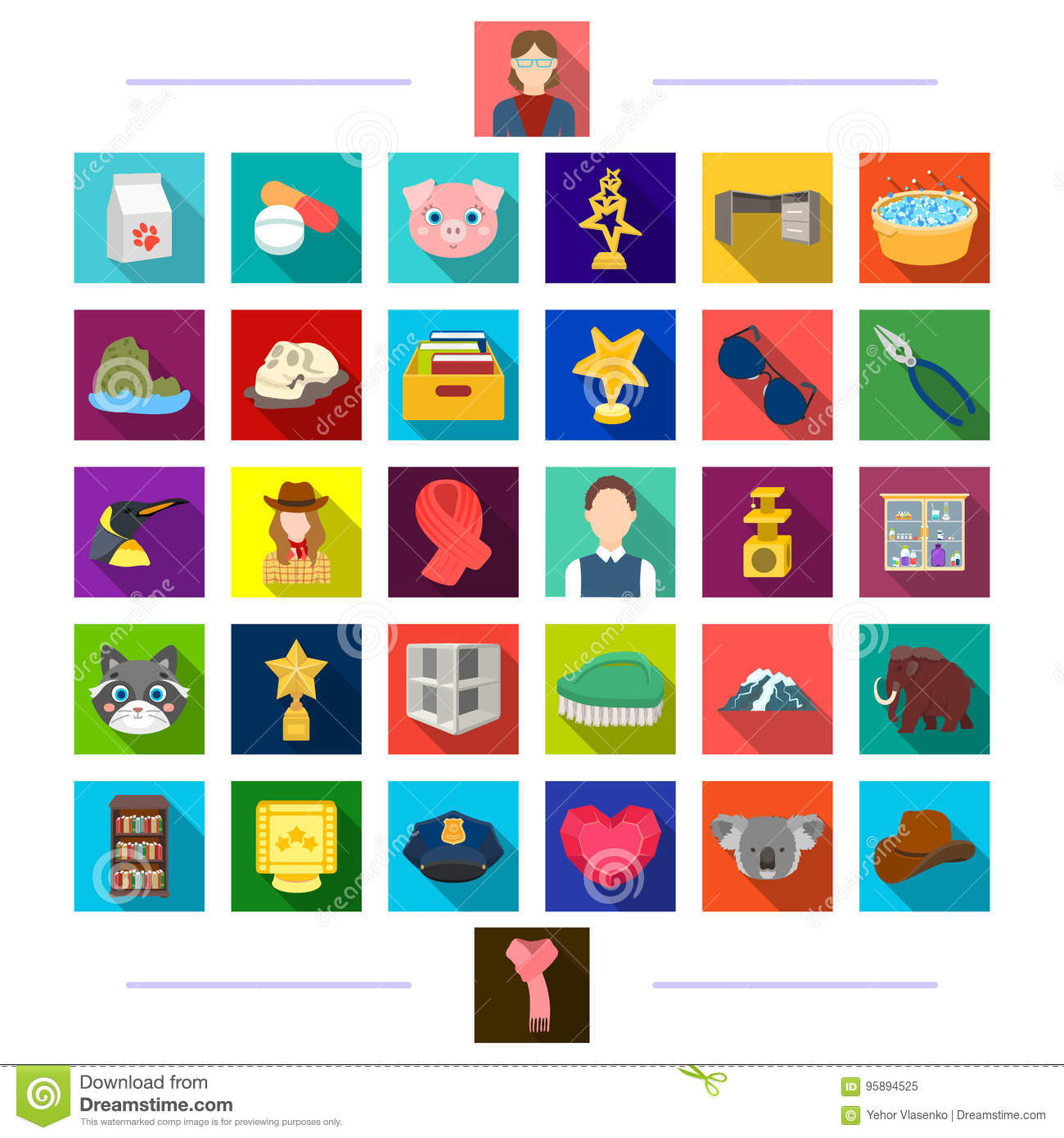Cinematography, recreation, furniture and other web icon in flat style.achievement, medicine, animals icons in set