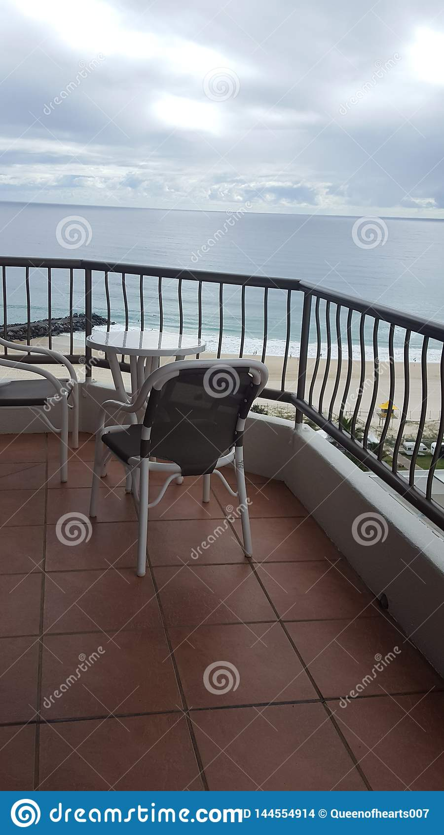 Coolangatta - Panoramic view from the balcony of a luxurious apartment, the Beach House, Coolangatta, Queensland, Australia