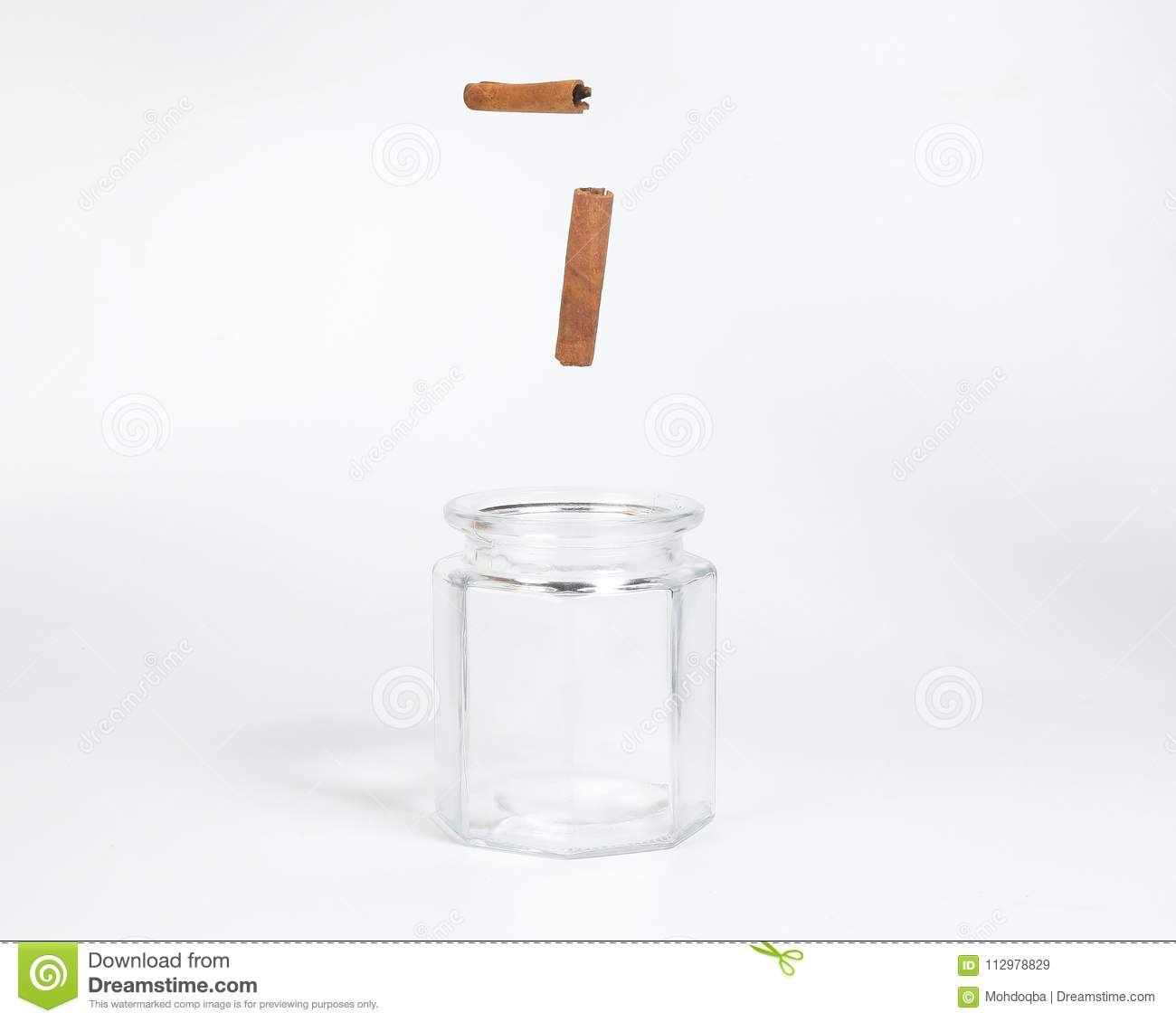 Cinnamon in a glass jar