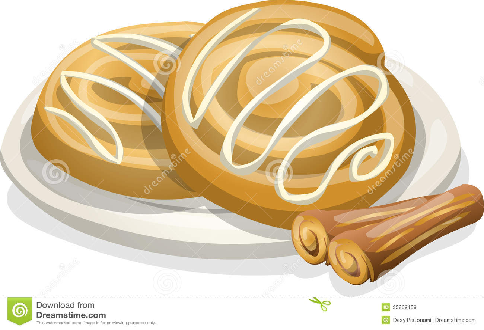 Cinnamon roll art   Etsy