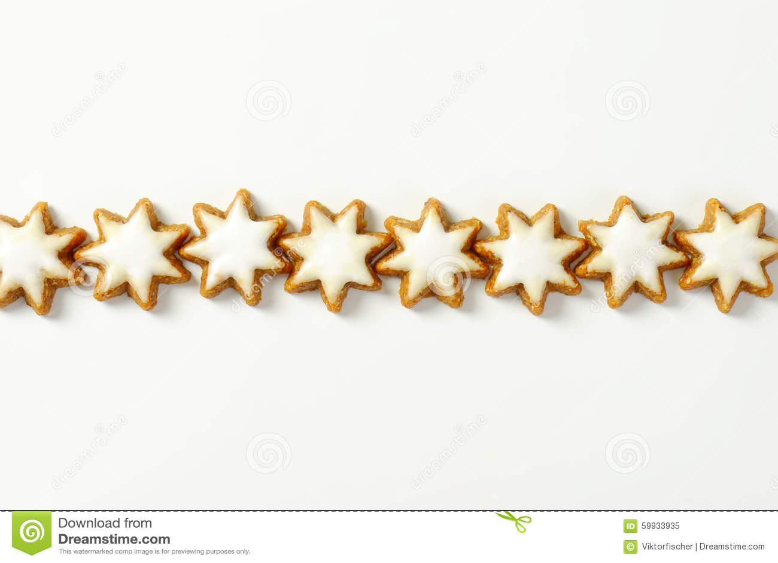 Cinnamon Star Cookies Stock Photo - Image: 59933935