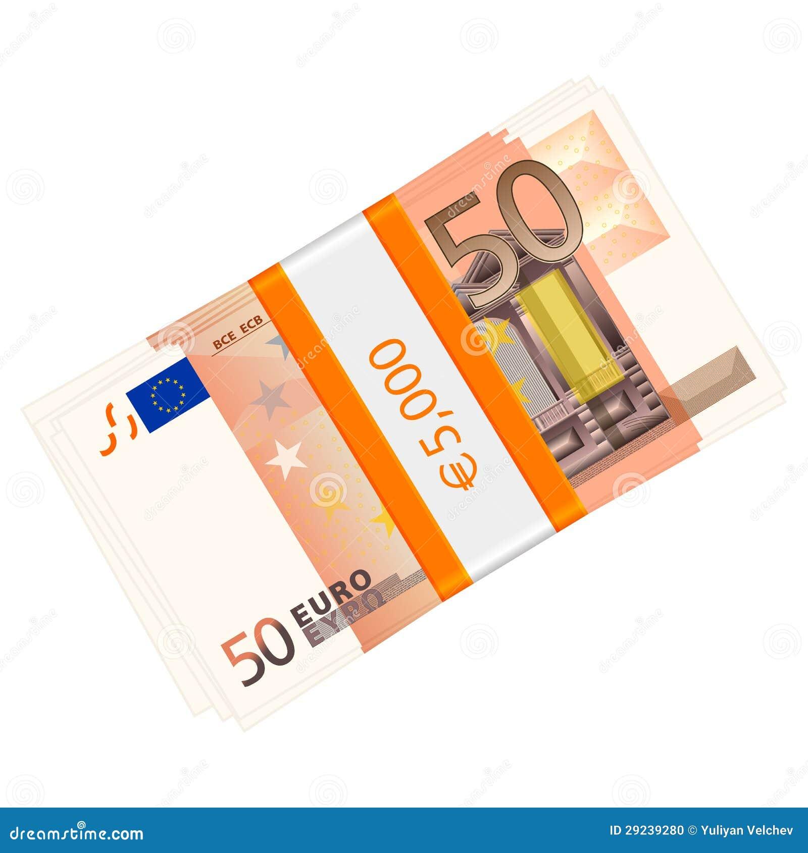 Download Cinqüênta euro- blocos ilustração do vetor. Ilustração de conceito - 29239280