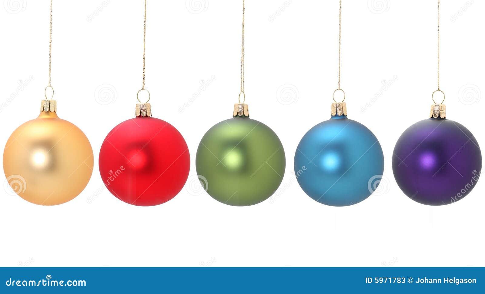 Cinq billes de Noël