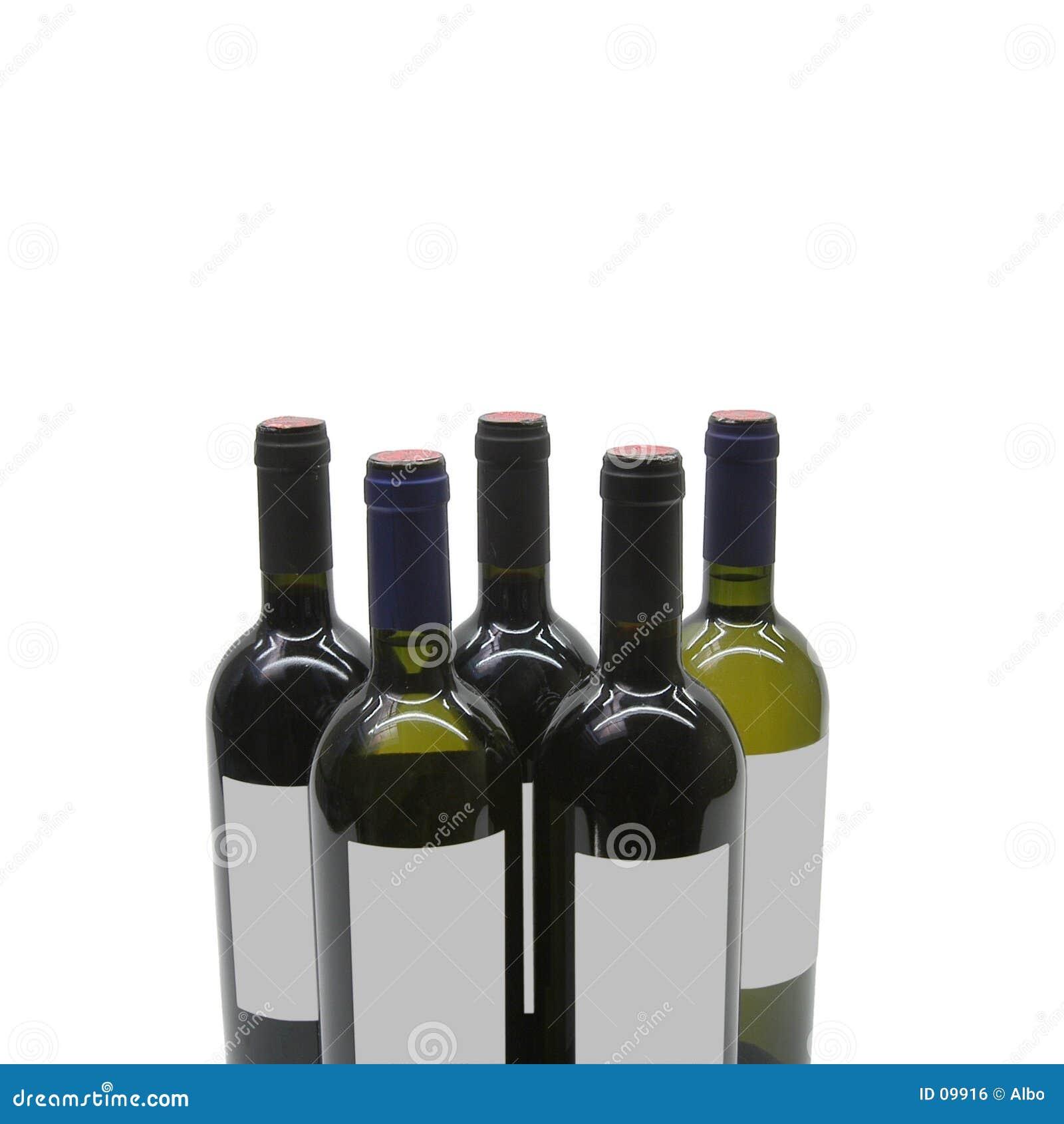 Cinq bouteilles