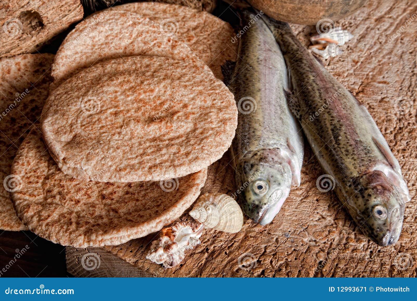 Cinq pains de pain et de deux poissons