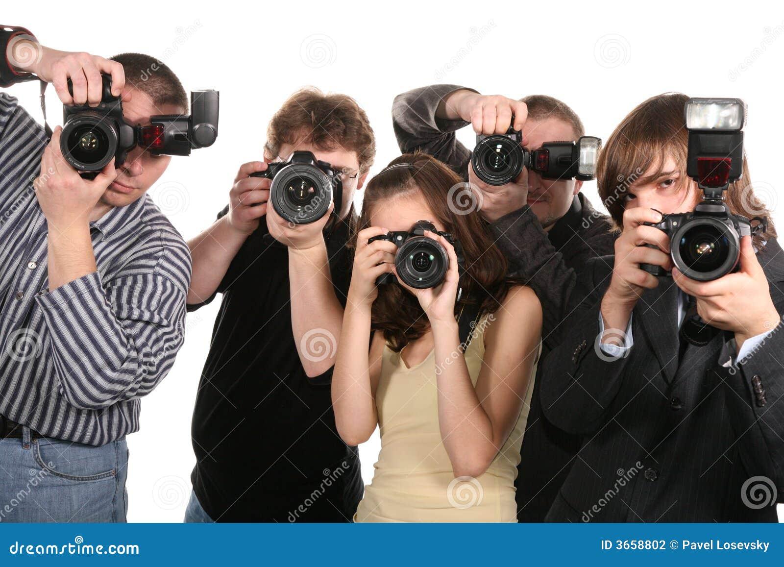Cinq photographes