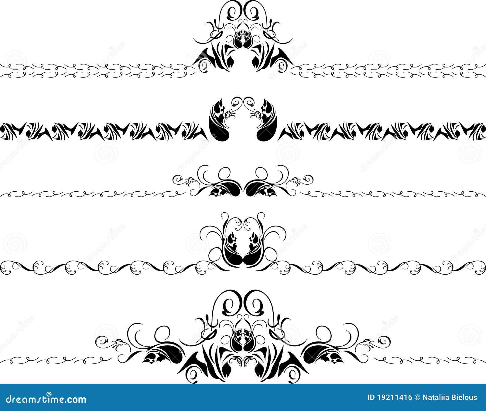 Cinque bordi decorativi illustrazione vettoriale for Bordi decorativi