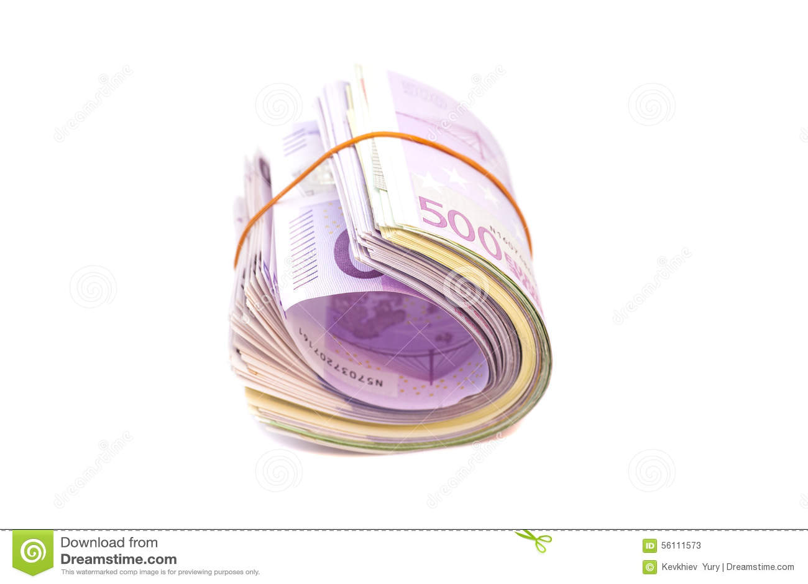 Cinque centesime banconote sotto l elastico