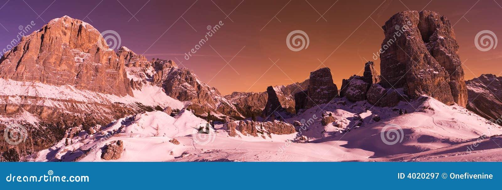Cinque dolomitów torri Włochy