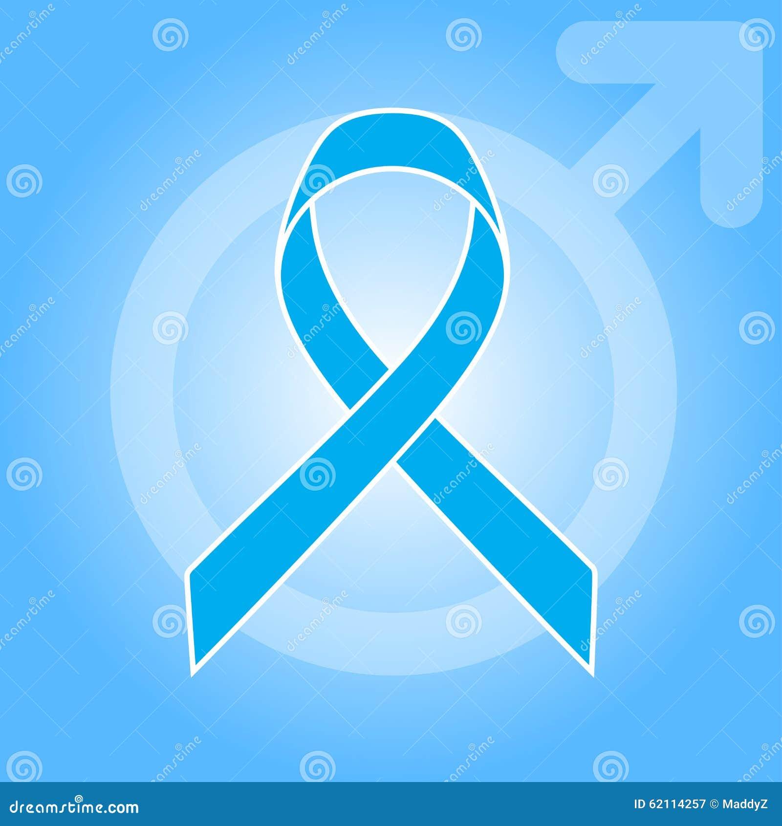 Cinta Azul Clara Como Símbolo De La Conciencia Del Cáncer De ...