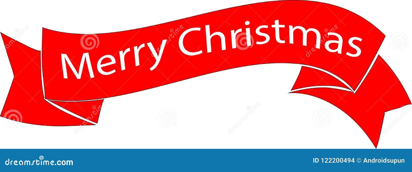 Cinta De La Feliz Navidad Del Color Rojo Ilustración del Vector ...