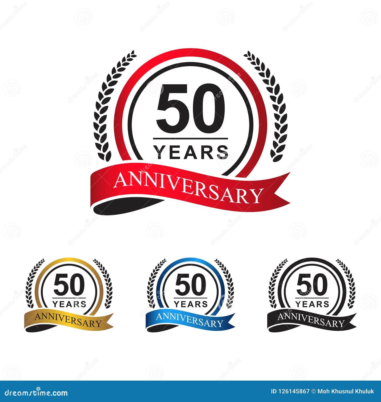 50.a cinta del círculo de los años del aniversario