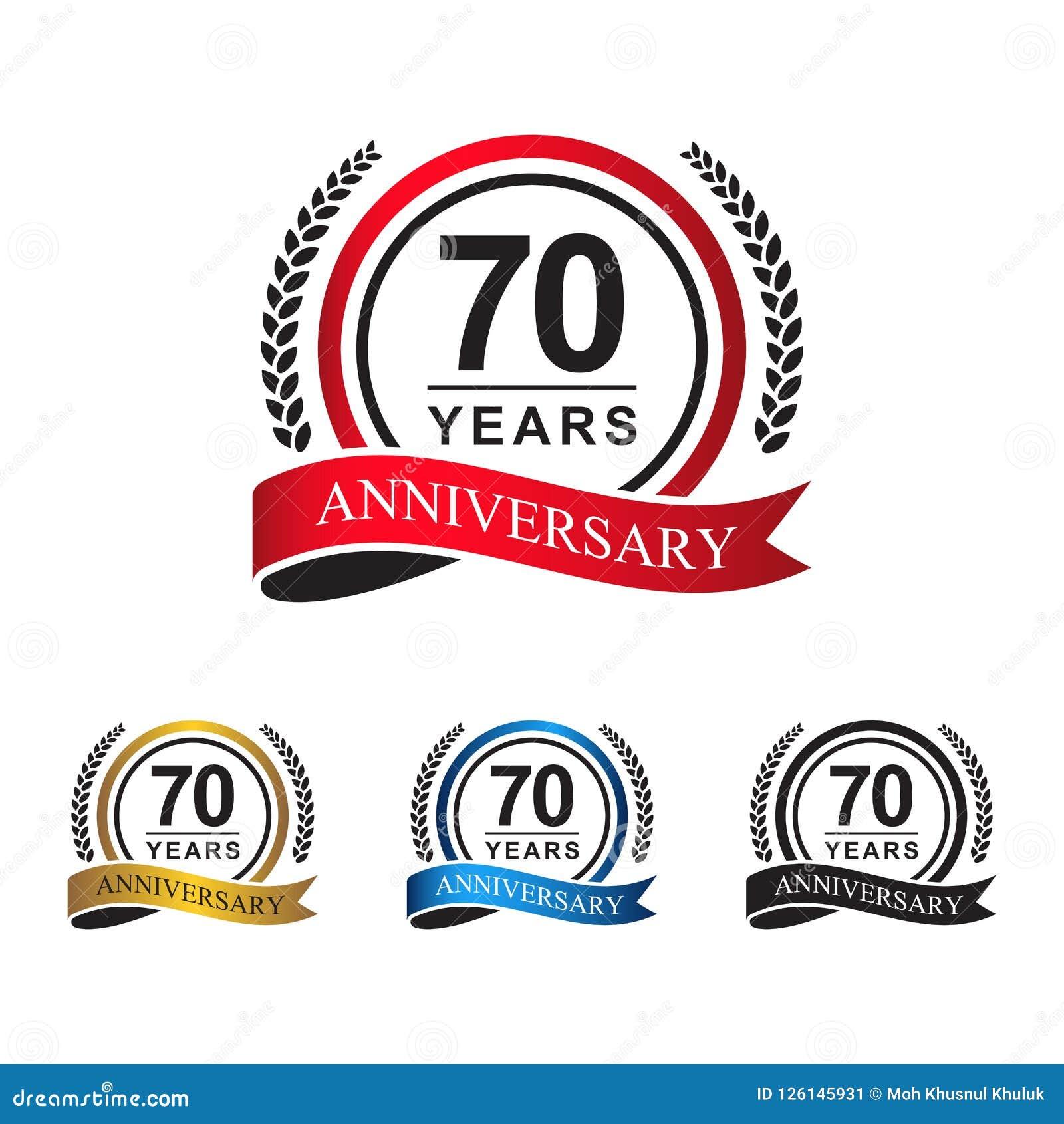 70.a cinta del círculo de los años del aniversario