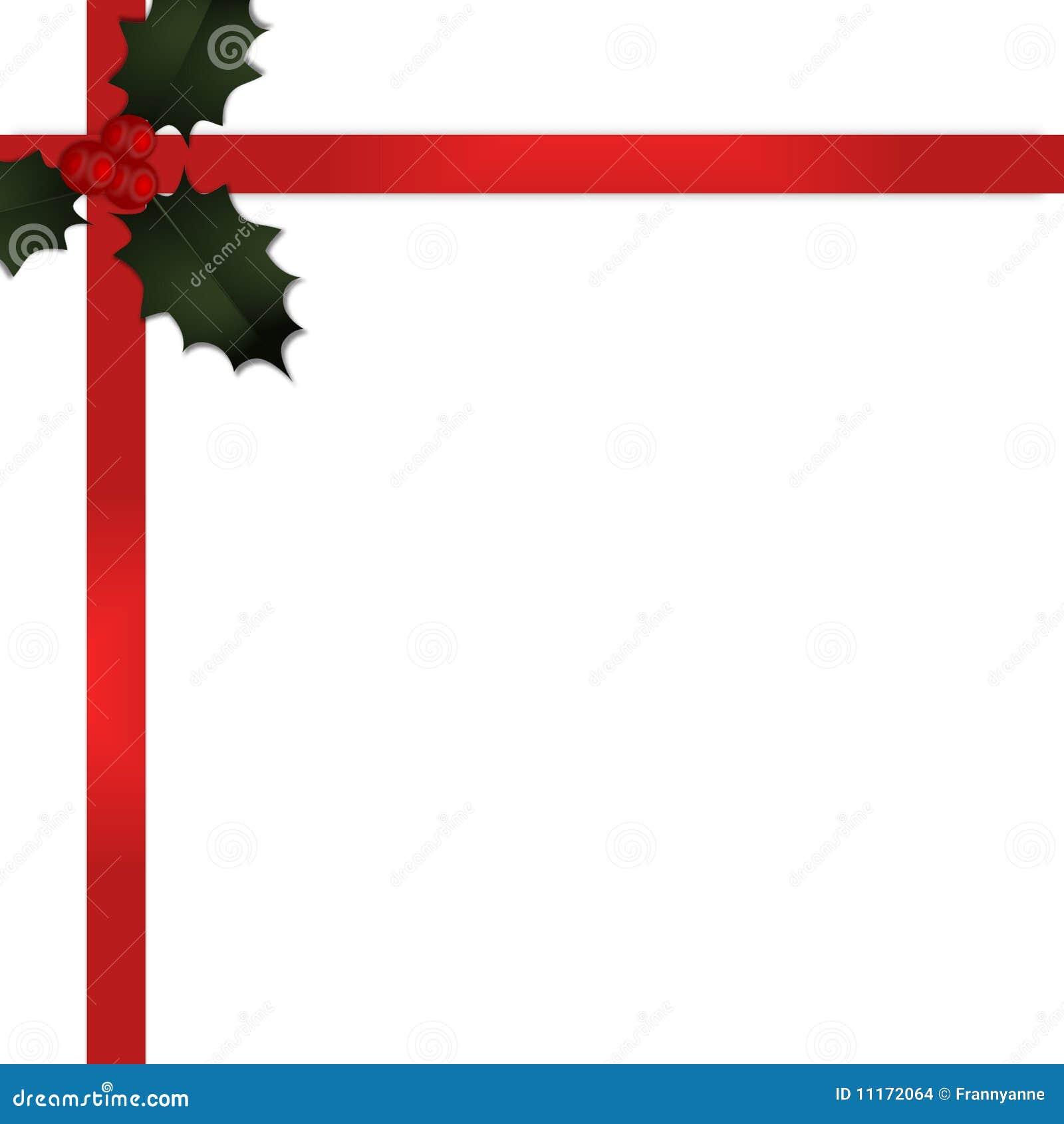 Cinta del regalo de la navidad con el acebo v2 imagenes de - Cinta de navidad ...