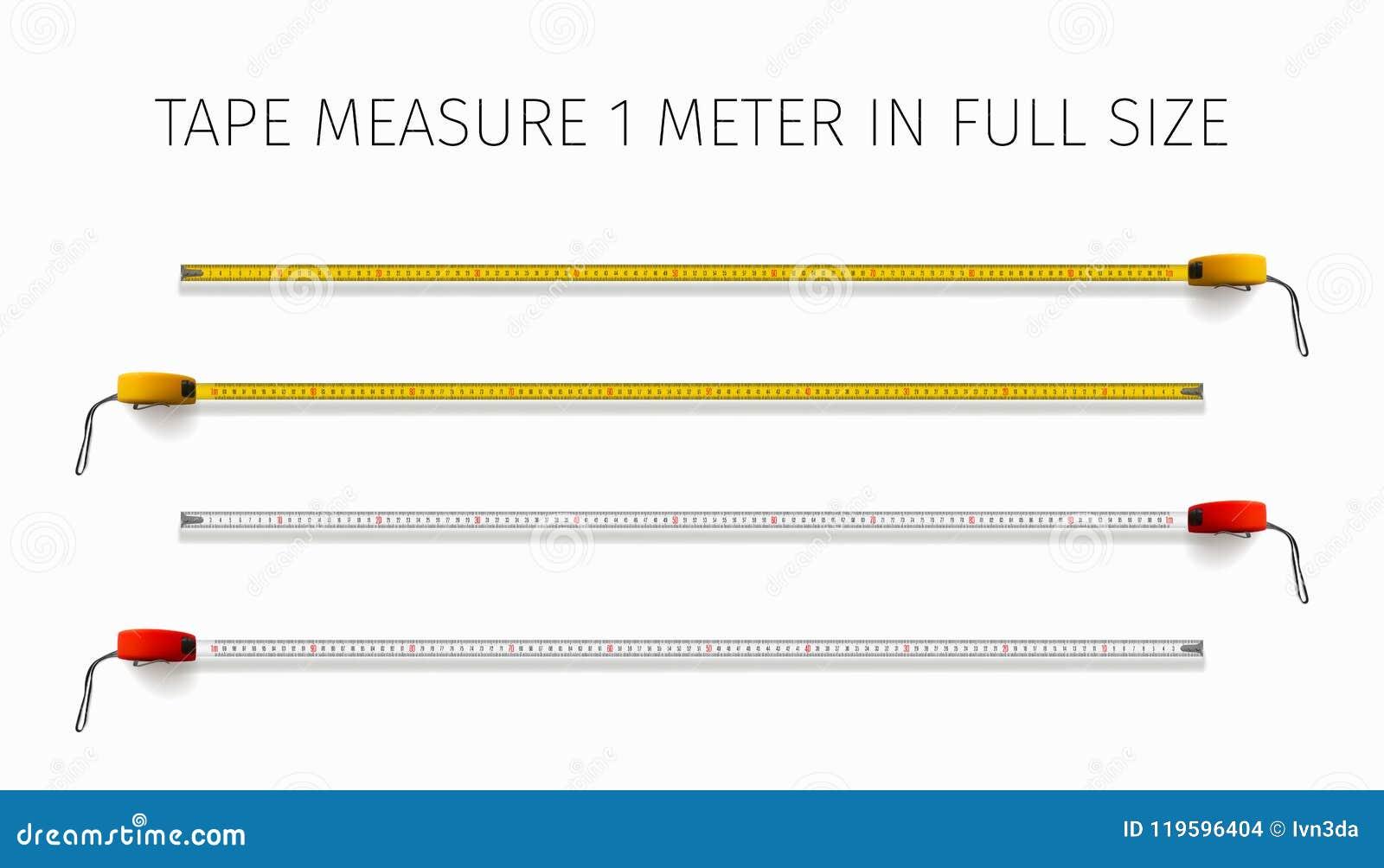 cinta metrica tamaño real