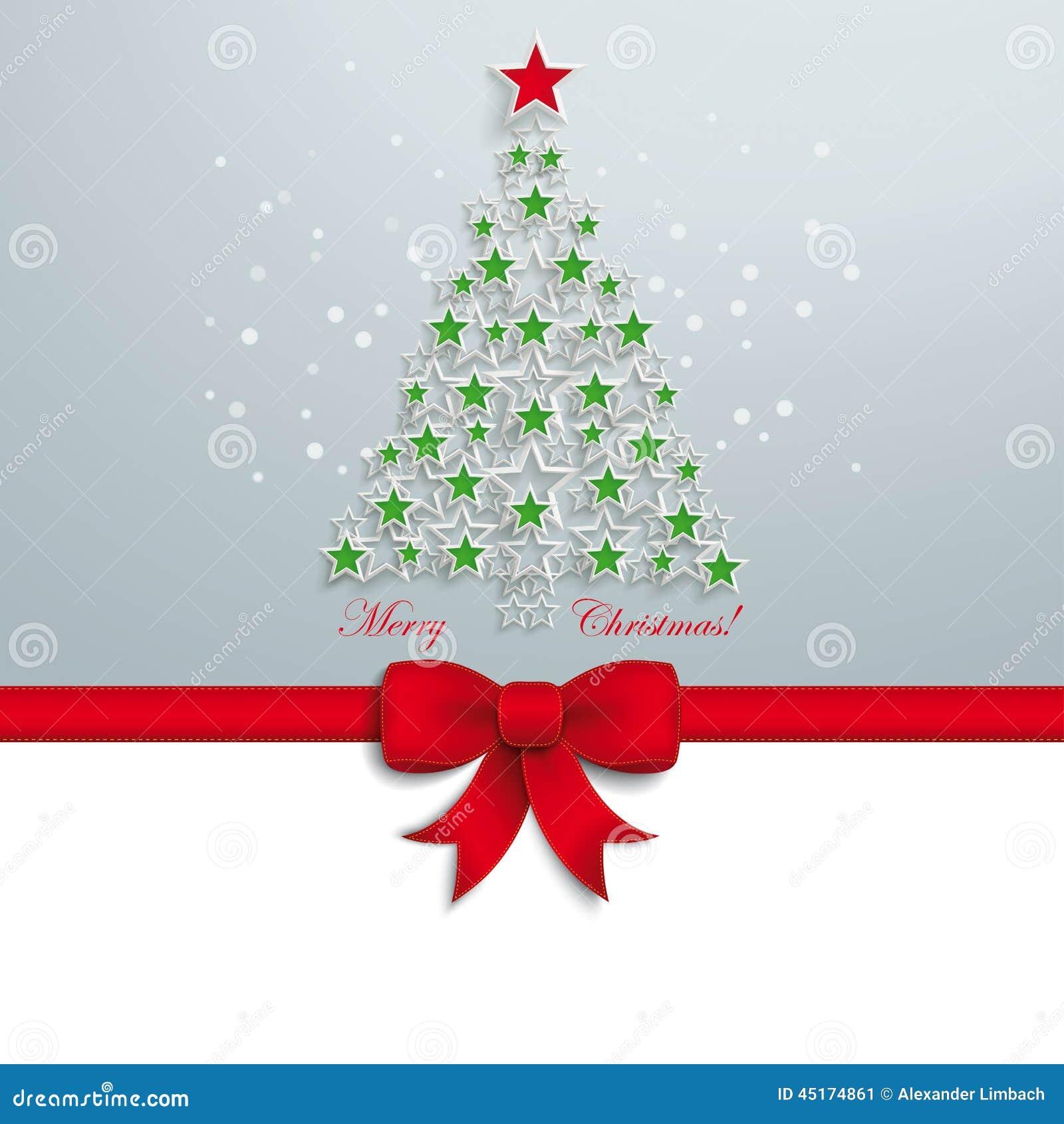 Cinta roja de la estrella del rbol de navidad verde - Cinta arbol navidad ...