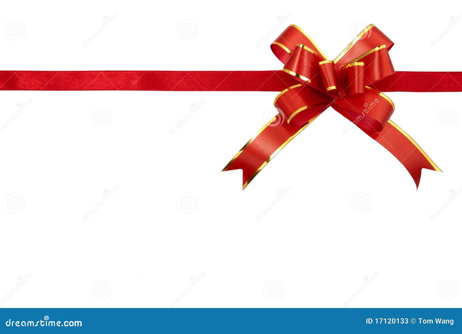 Cinta roja del regalo fotos de archivo imagen 17120133 - Cinta para regalo ...