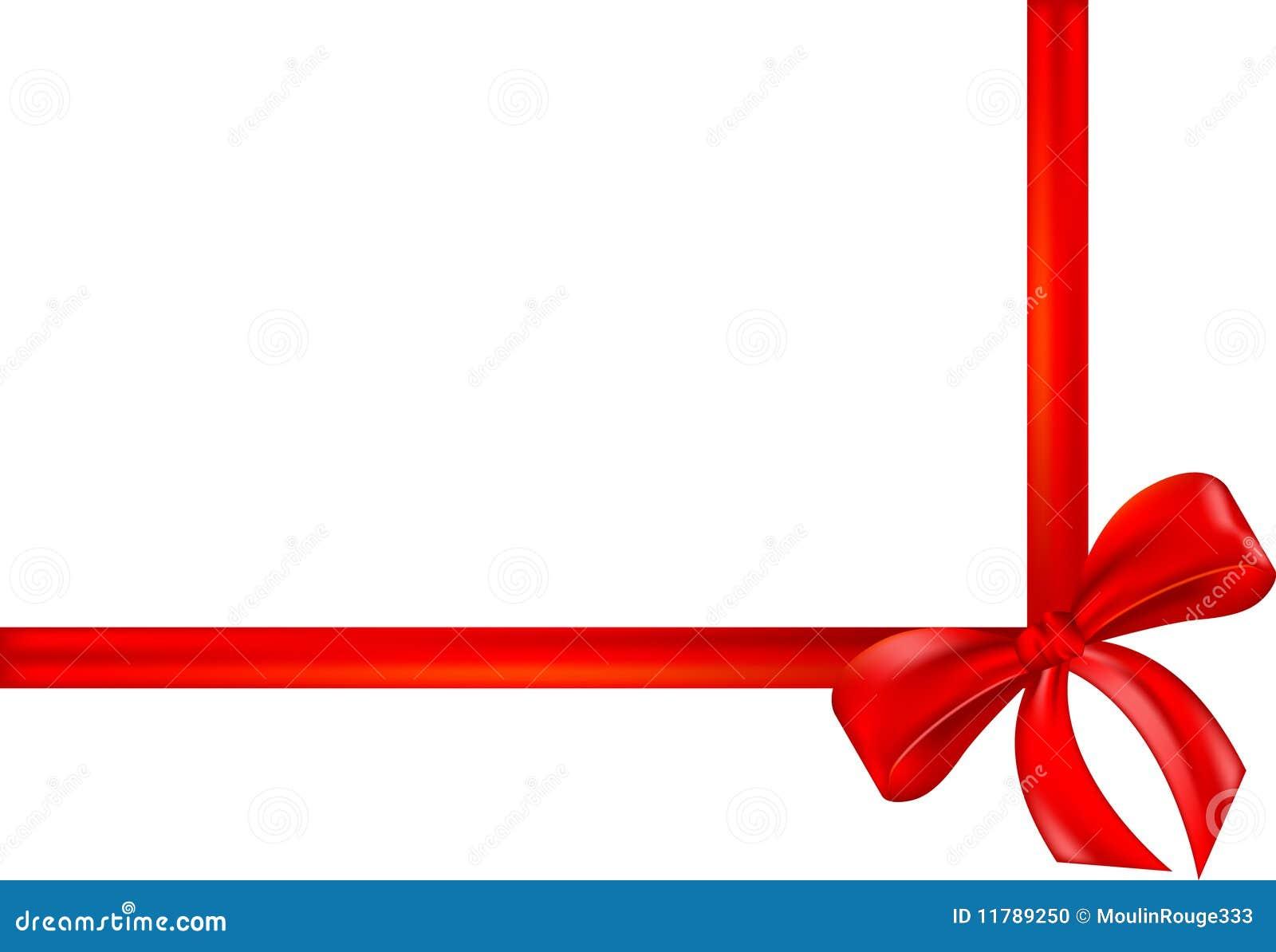 Cinta roja del regalo arqueamiento abrigo foto de - Cinta para regalo ...