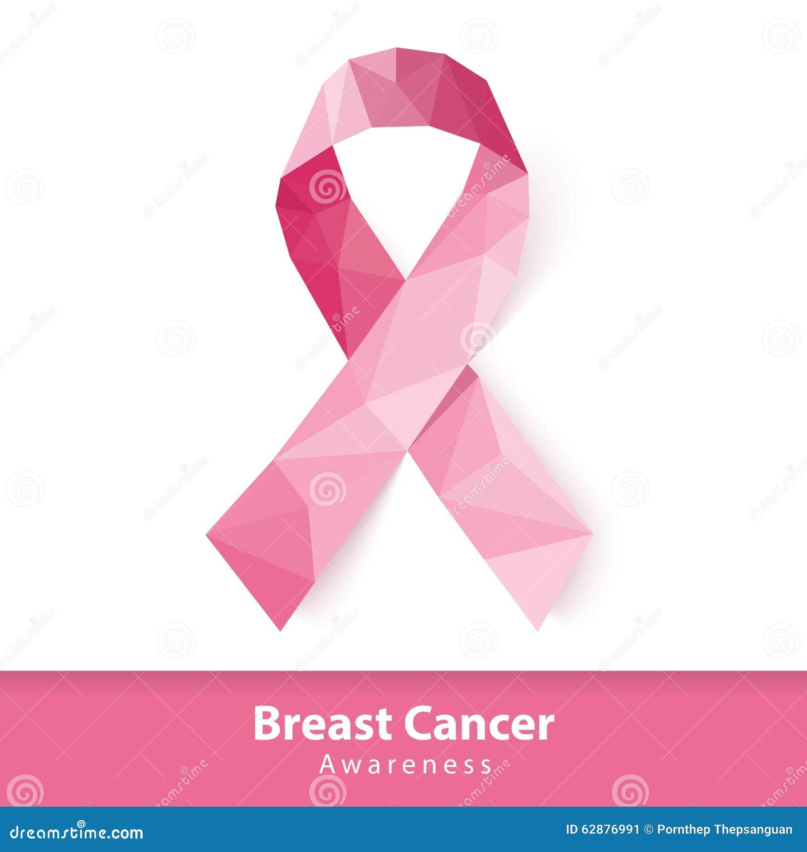 Cinta rosada abstracta del símbolo de la conciencia del cáncer de pecho