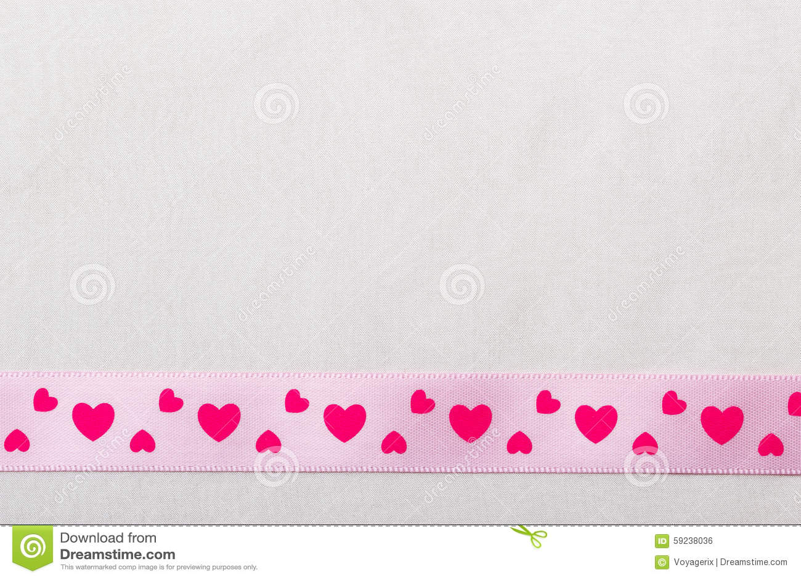 Download Cinta Rosada Del Corazón En Fondo Del Paño Foto de archivo - Imagen de boda, aniversario: 59238036