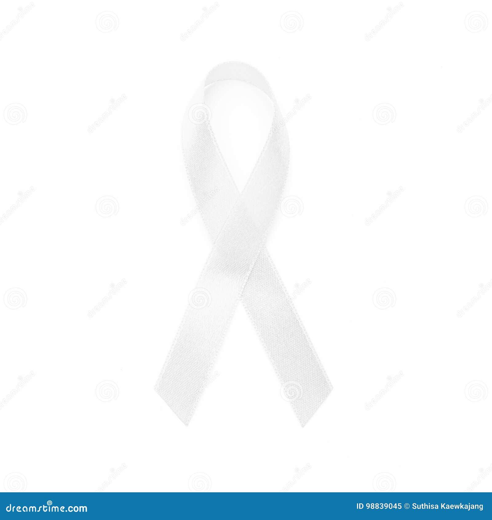 Cintas blancas de la conciencia del campo común todo el cáncer Concepto de la salud