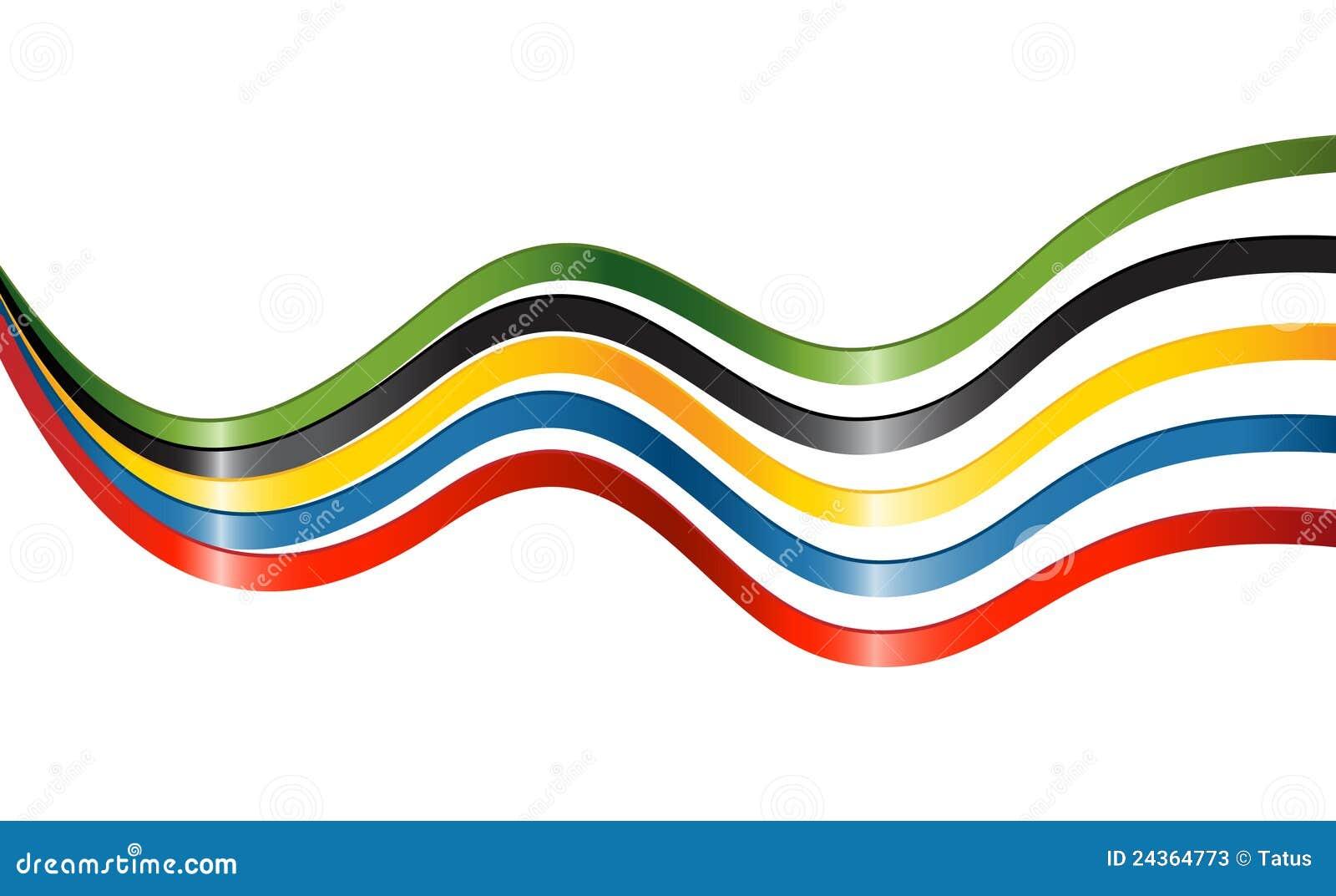 Cintas En Colores De Los Cinco Continentes Ilustración Del Vector Ilustración De Colores Continentes 24364773