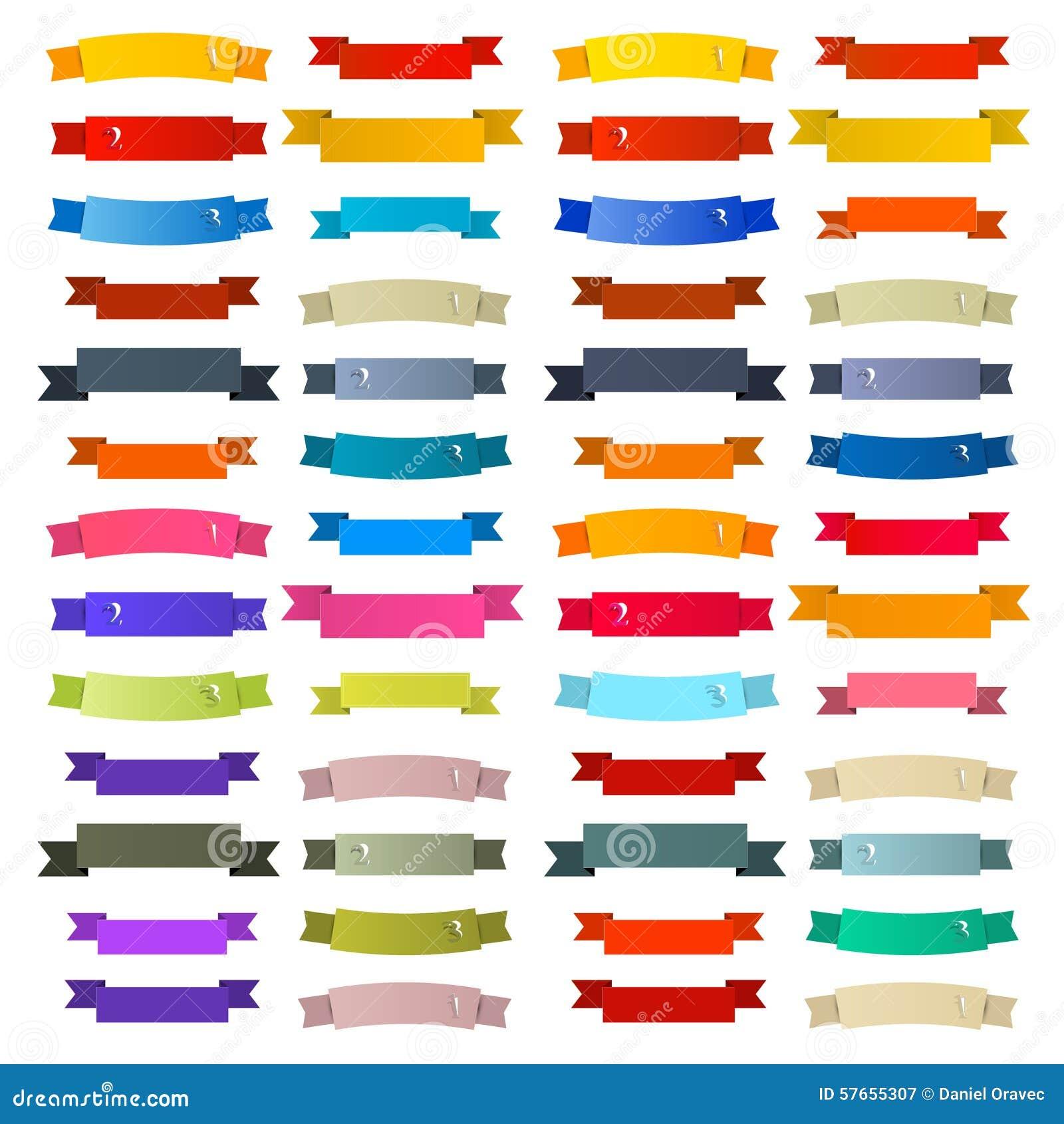 Cintas retras coloridas, sistema de etiquetas