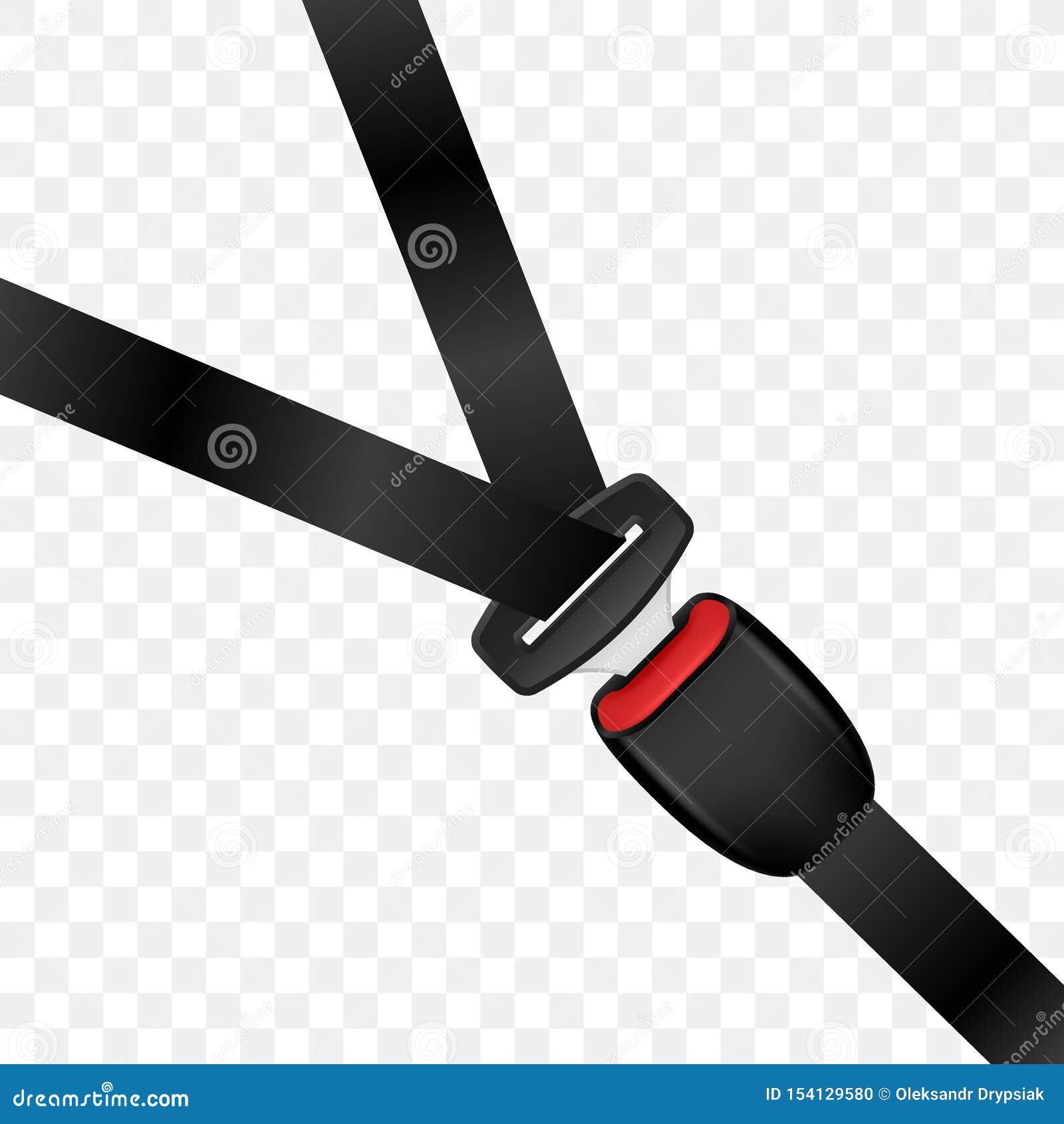Cinturón de seguridad bloqueado realista Cinturón de seguridad cerrado del automóvil