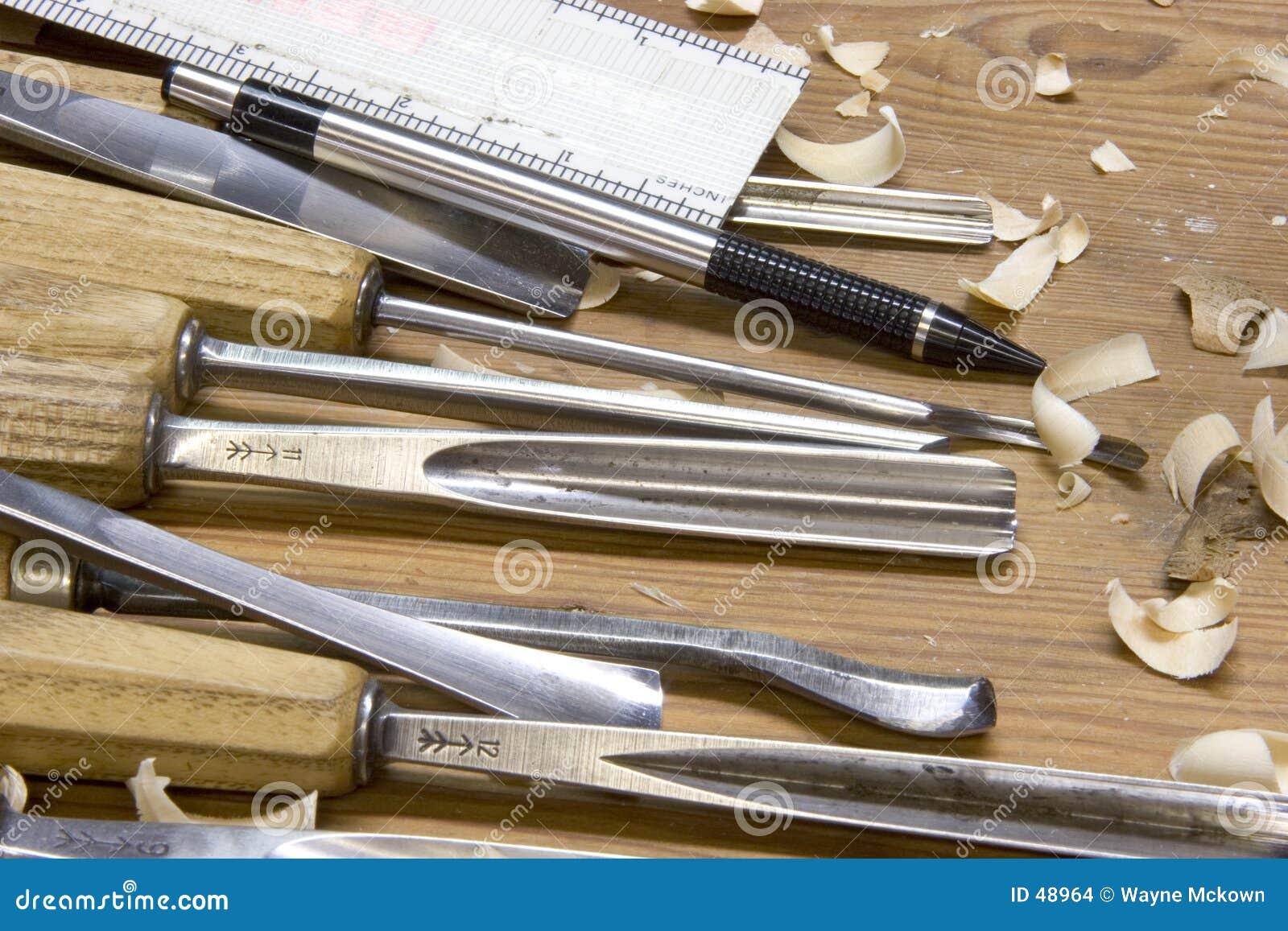 Cinzelando ferramentas
