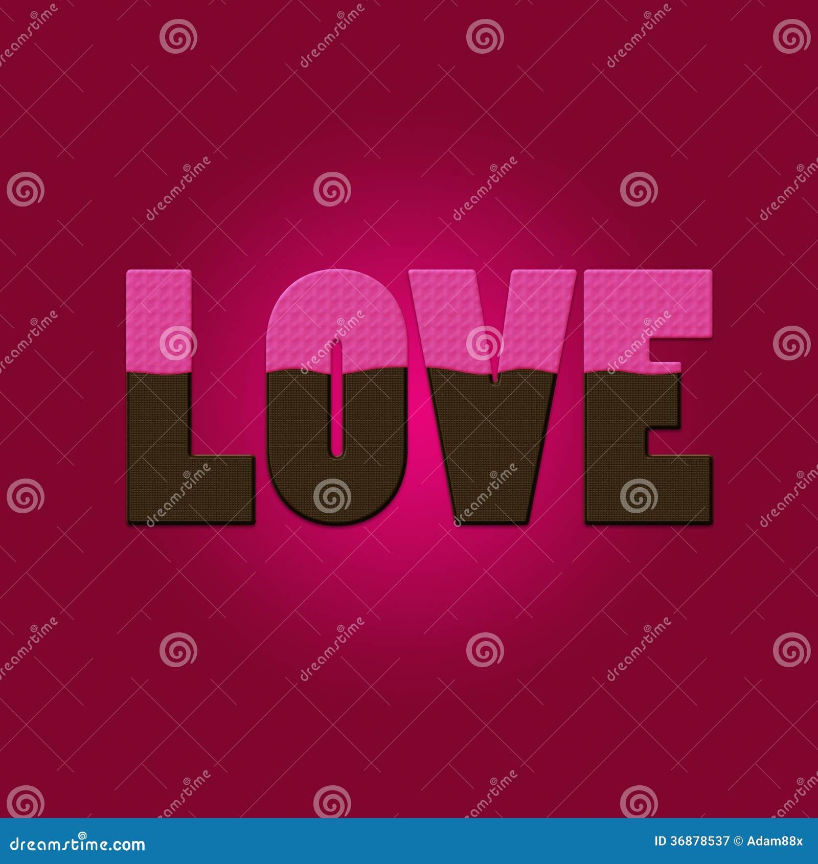 Download Cioccolato Del Testo Di Amore Illustrazione di Stock - Illustrazione di coppie, disegno: 36878537