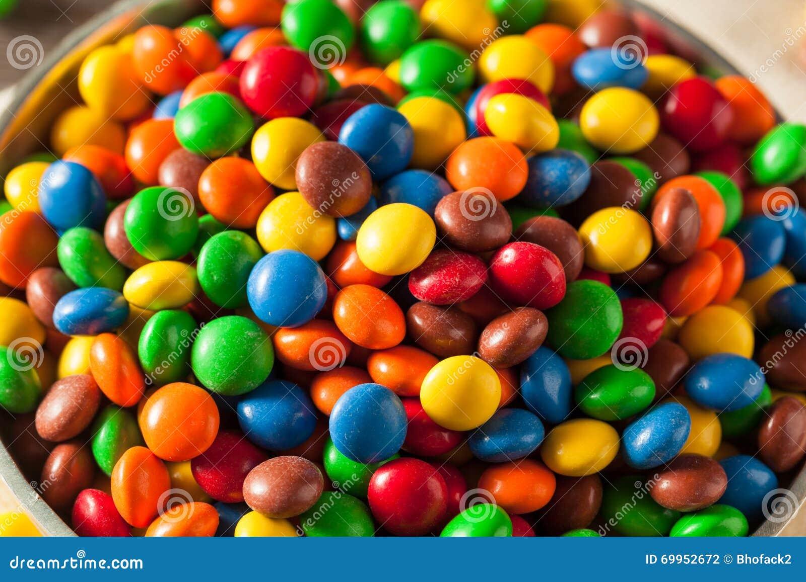 Cioccolato rivestito variopinto di Candy dell arcobaleno
