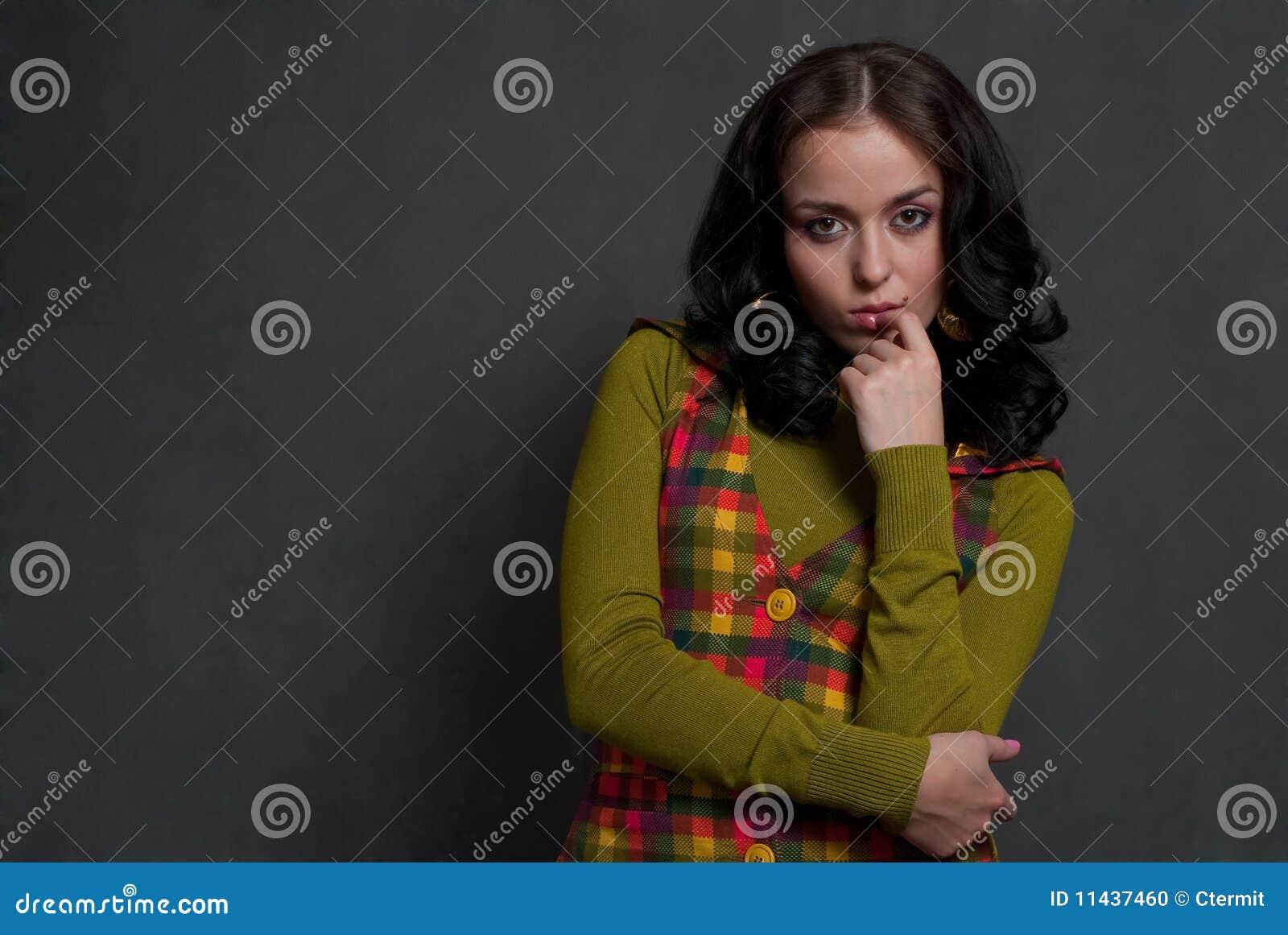 Ciosowy dziewczyny waistcoat
