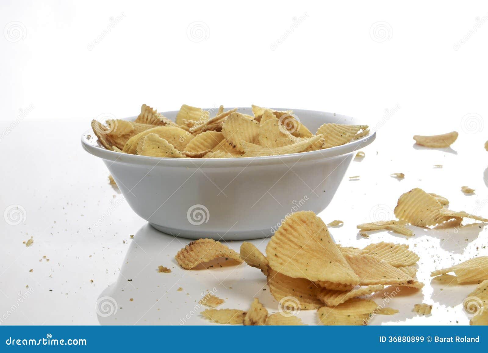 Download Ciotola di patatine fritte immagine stock. Immagine di gruppo - 36880899