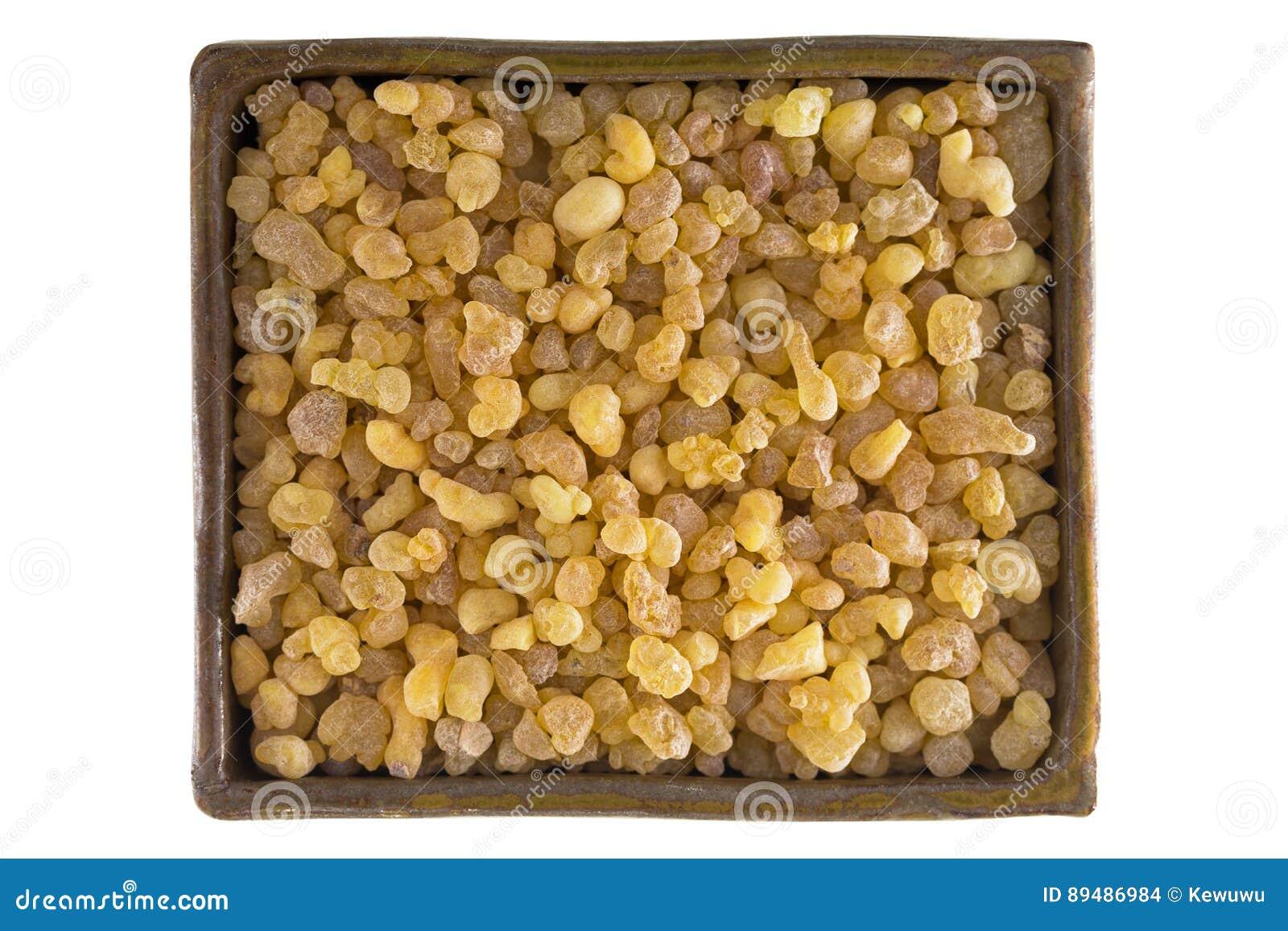 Ciotola di resina naturale gialla aromatica dal tre sudanese del franchincenso